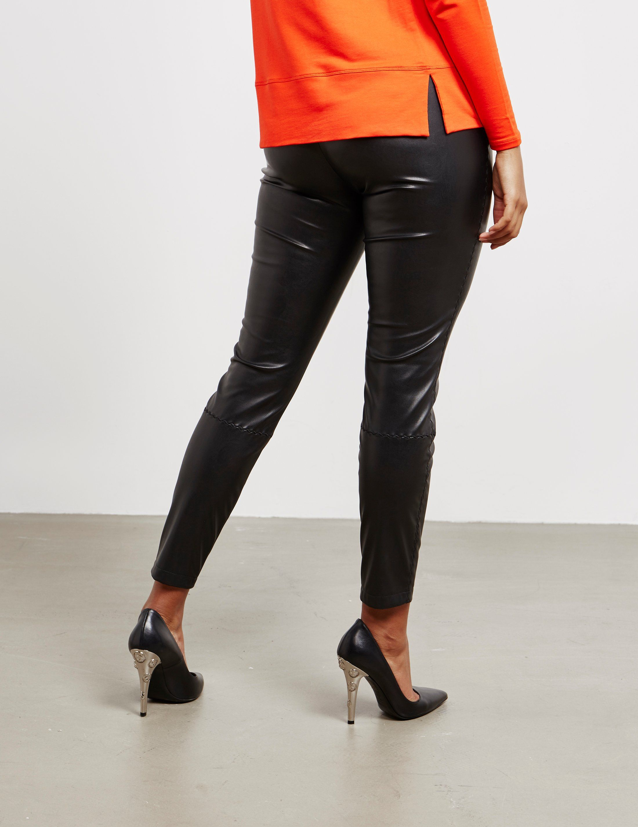 BOSS Faux Leather Trousers