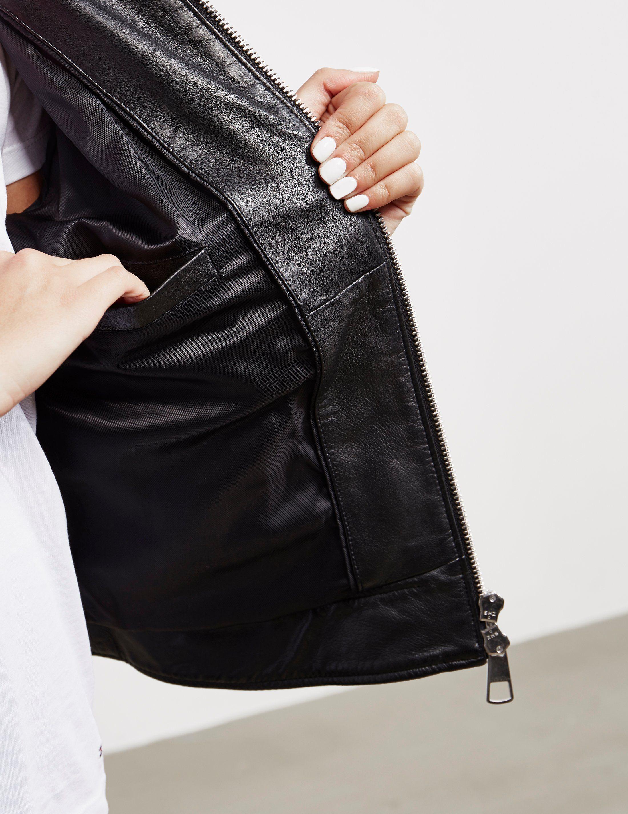 BOSS Zip Leather Jacket