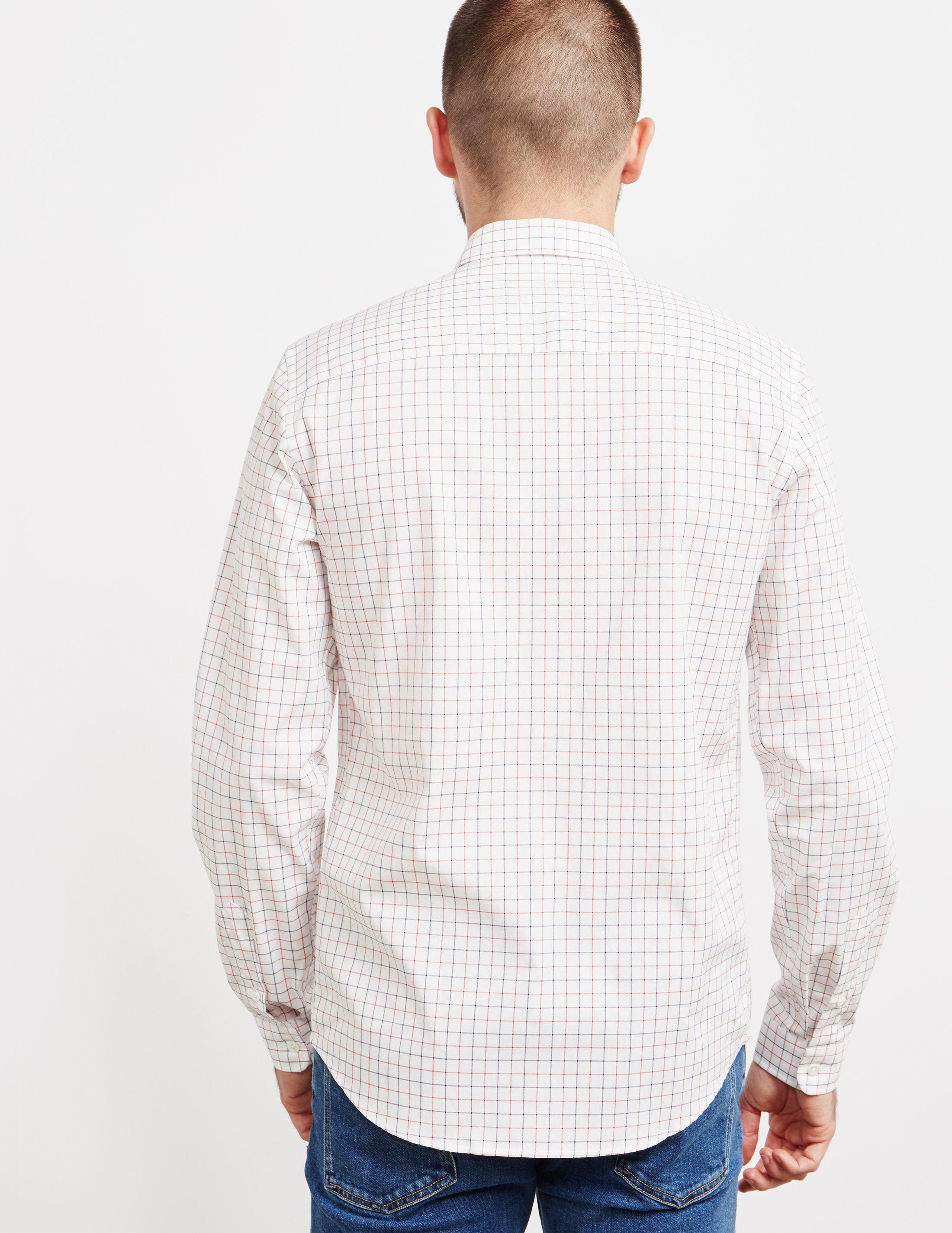 AMI Paris Checked Long Sleeve Shirt
