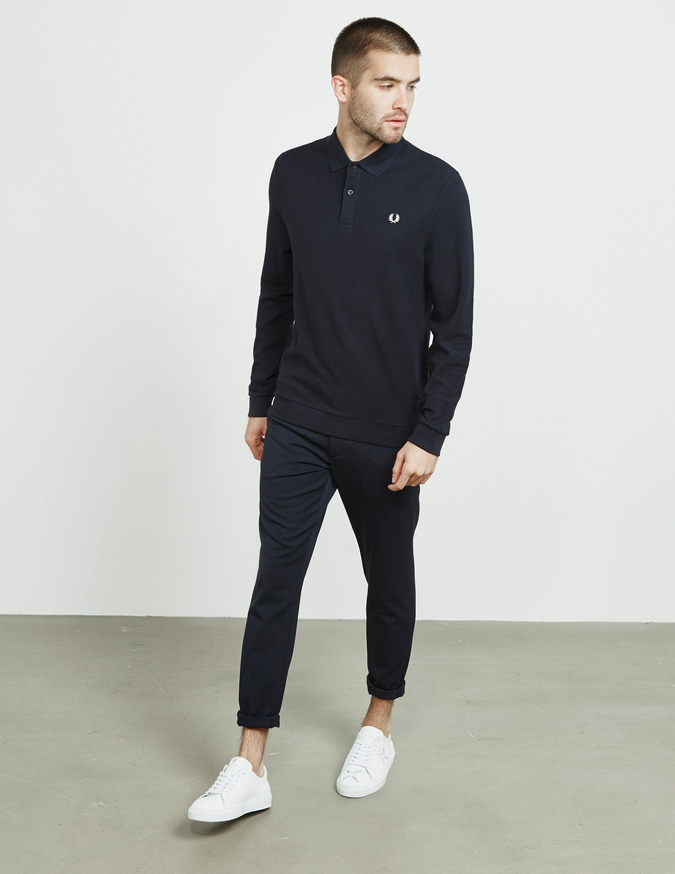 Fred Perry Pique Long Sleeve Polo Shirt