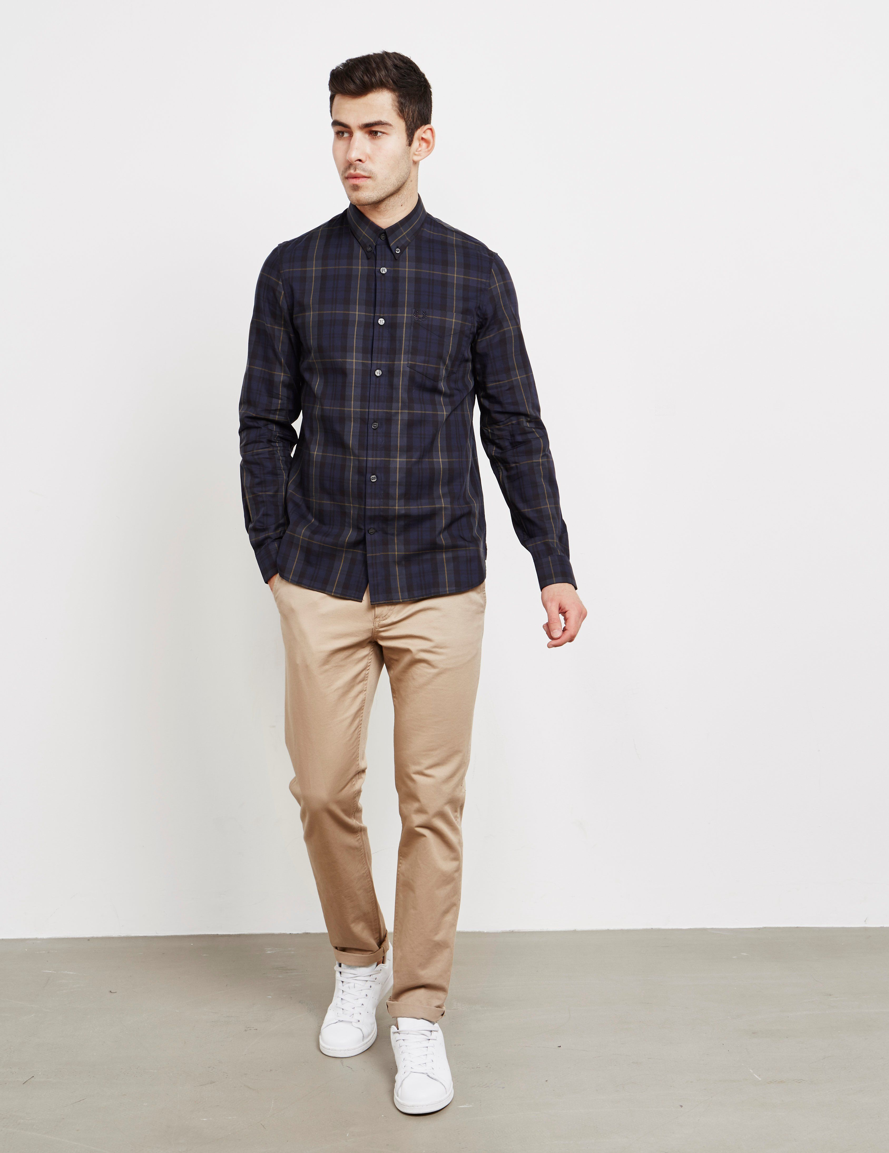 Fred Perry Contrast Tartan Long Sleeve Shirt