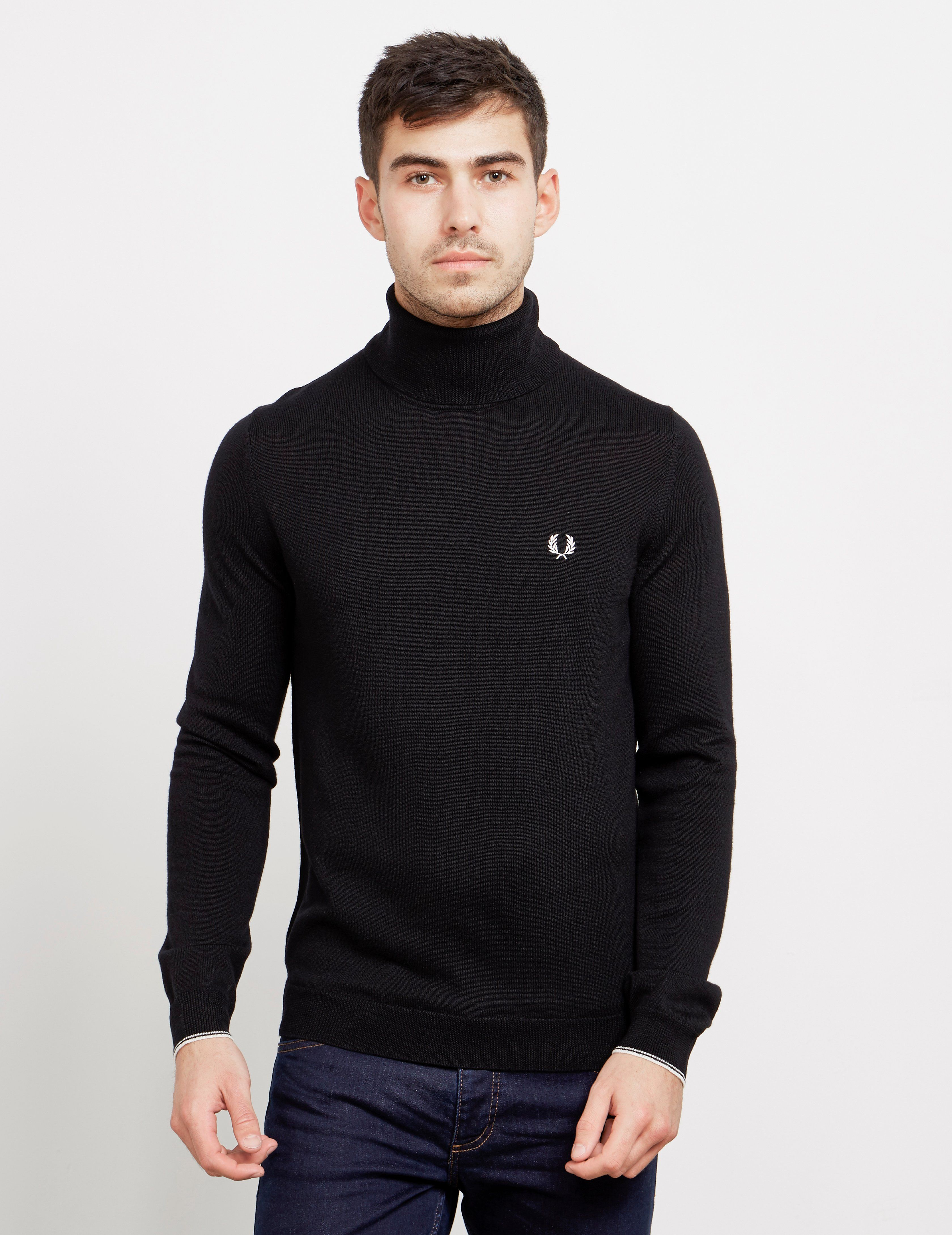 Fred Perry Merino Roll Neck Jumper