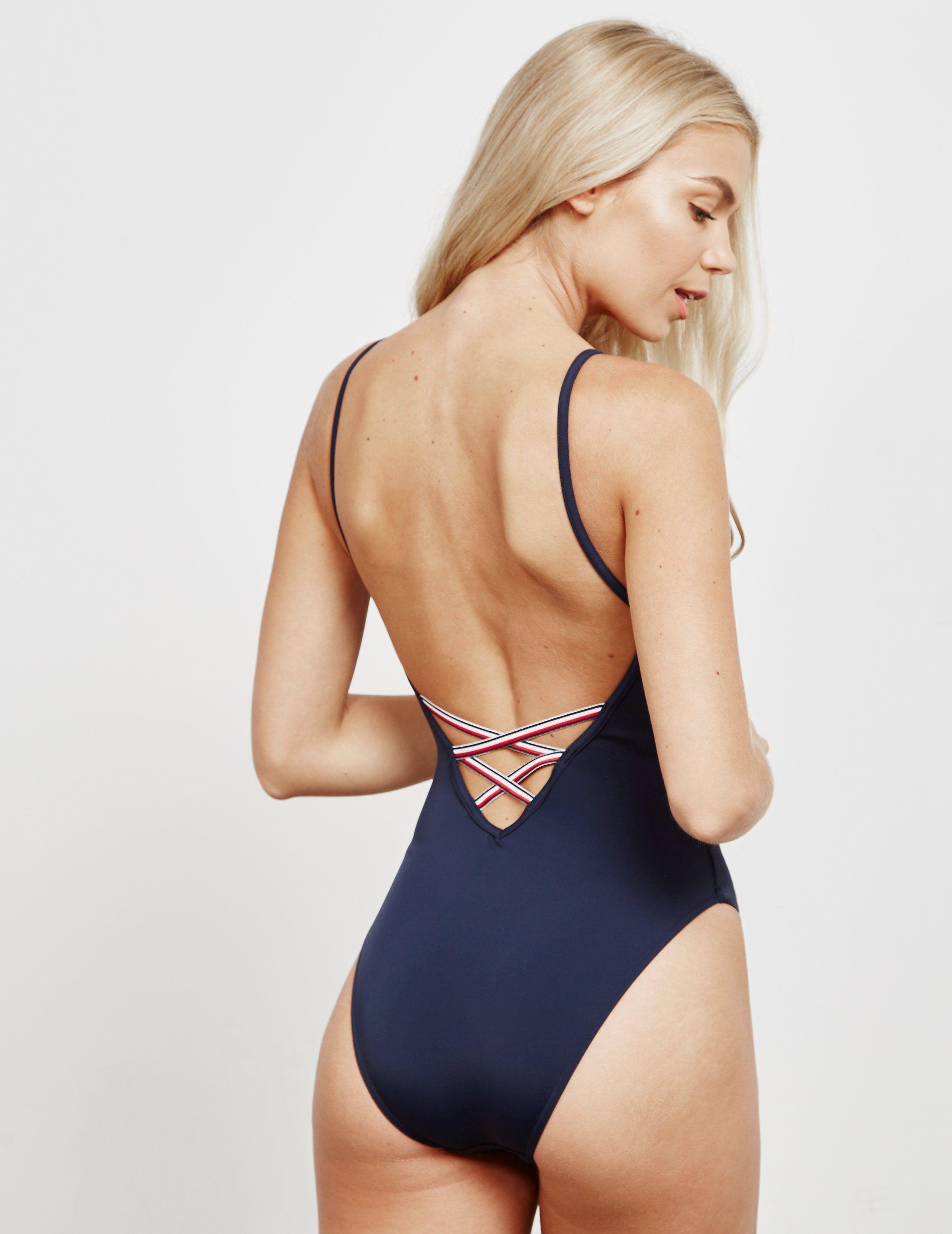 Tommy Hilfiger Swim Logo Swimming Costume - Online Exclusive