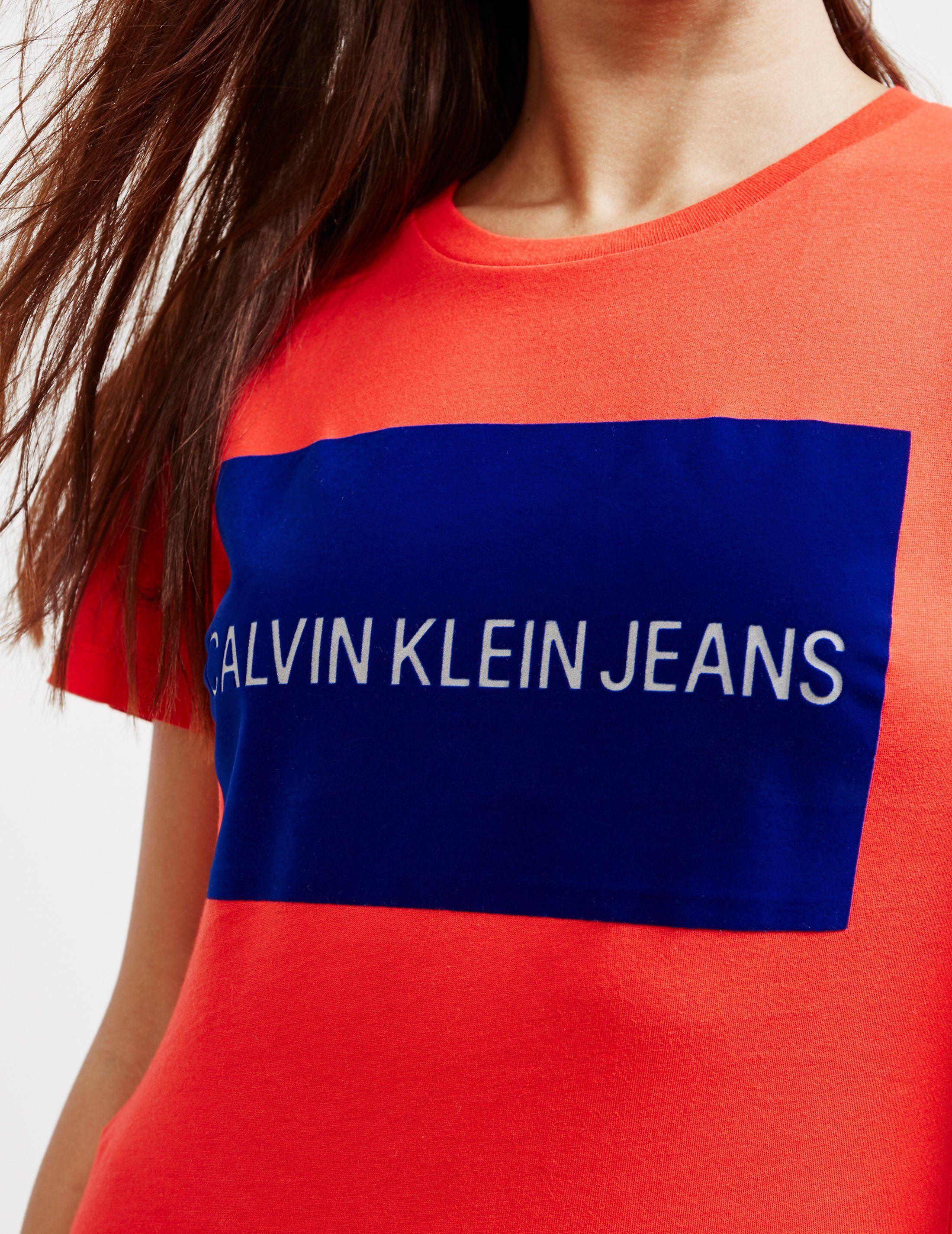 Calvin Klein Jeans Institutional Flocked Short Sleeve T-Shirt