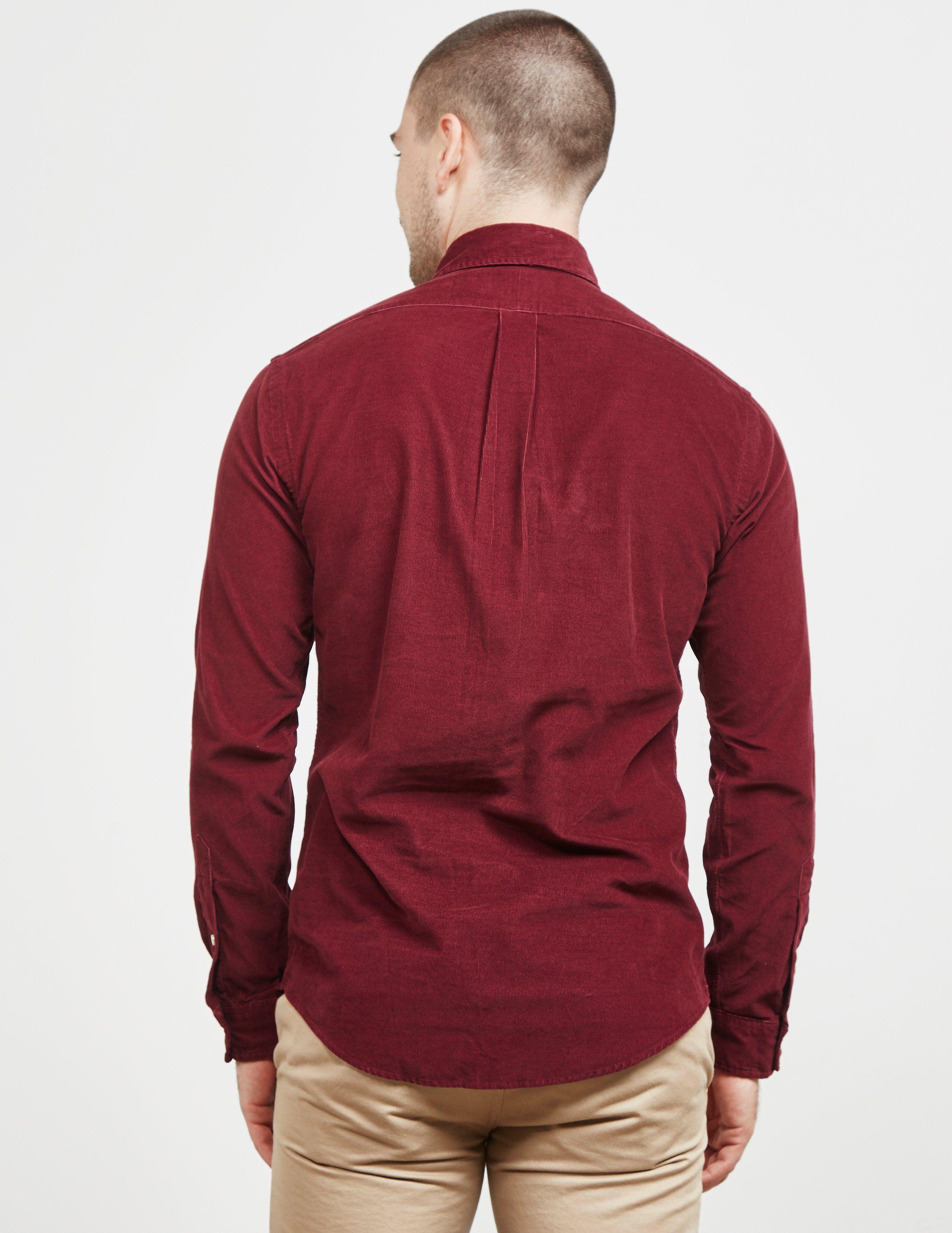 Polo Ralph Lauren Cord Slim Fit Long Sleeve Shirt
