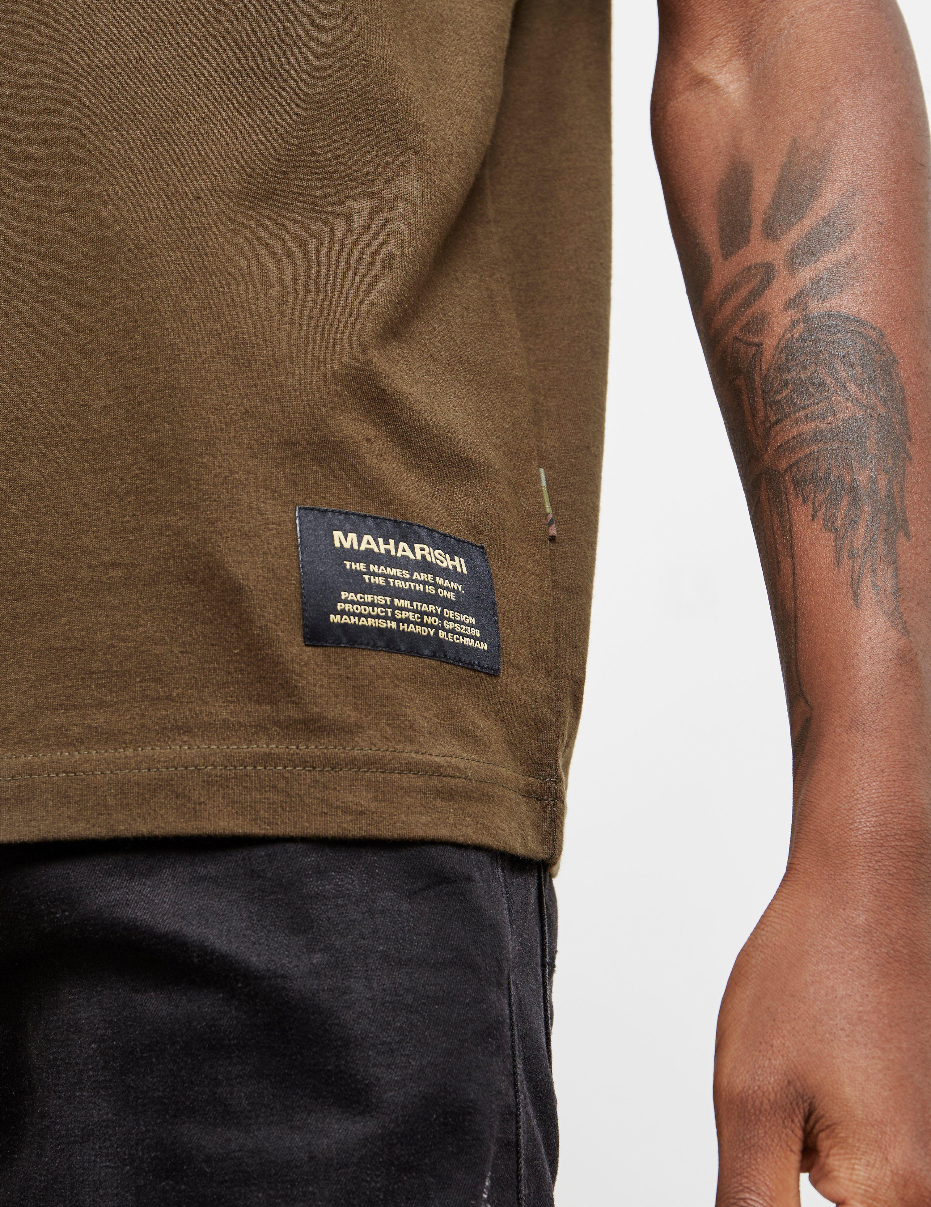 Maharishi Camouflage Dragon Short Sleeve T-Shirt