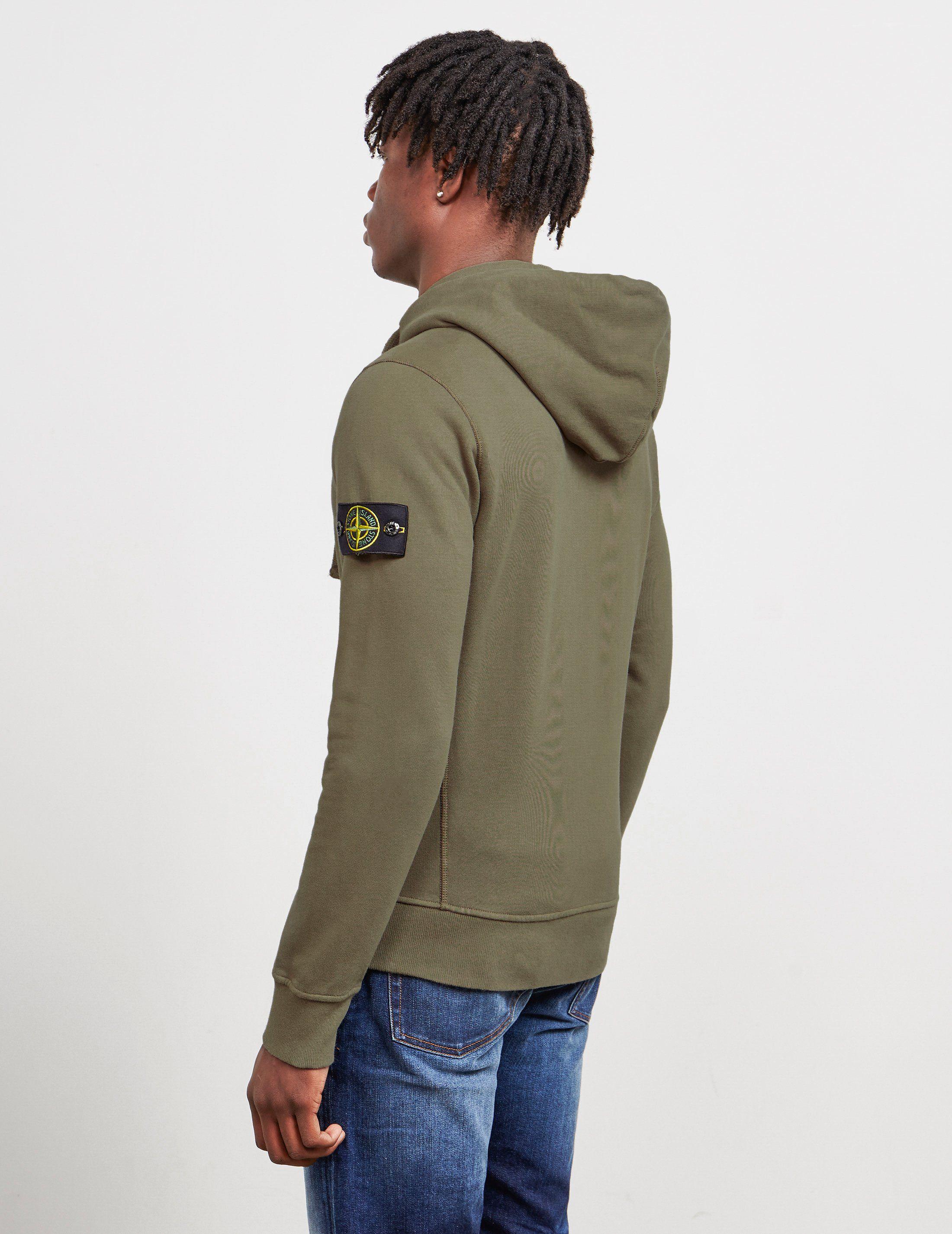 Stone Island Zip Through Hoodie