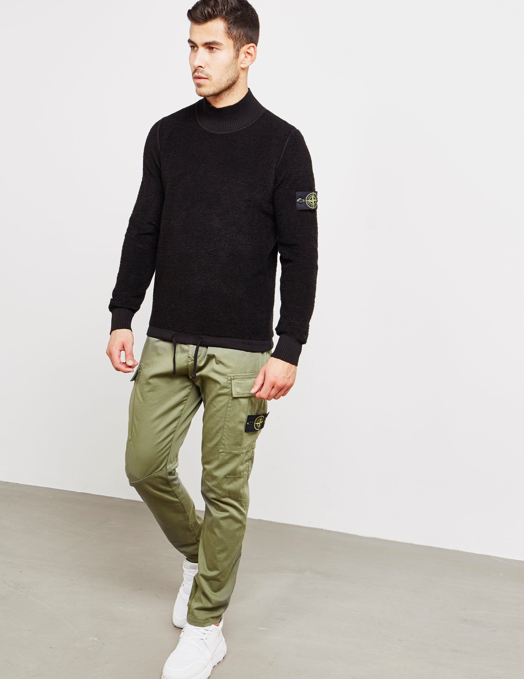 Stone Island Terry High Kneck Knit Jumper - Online Exclusive