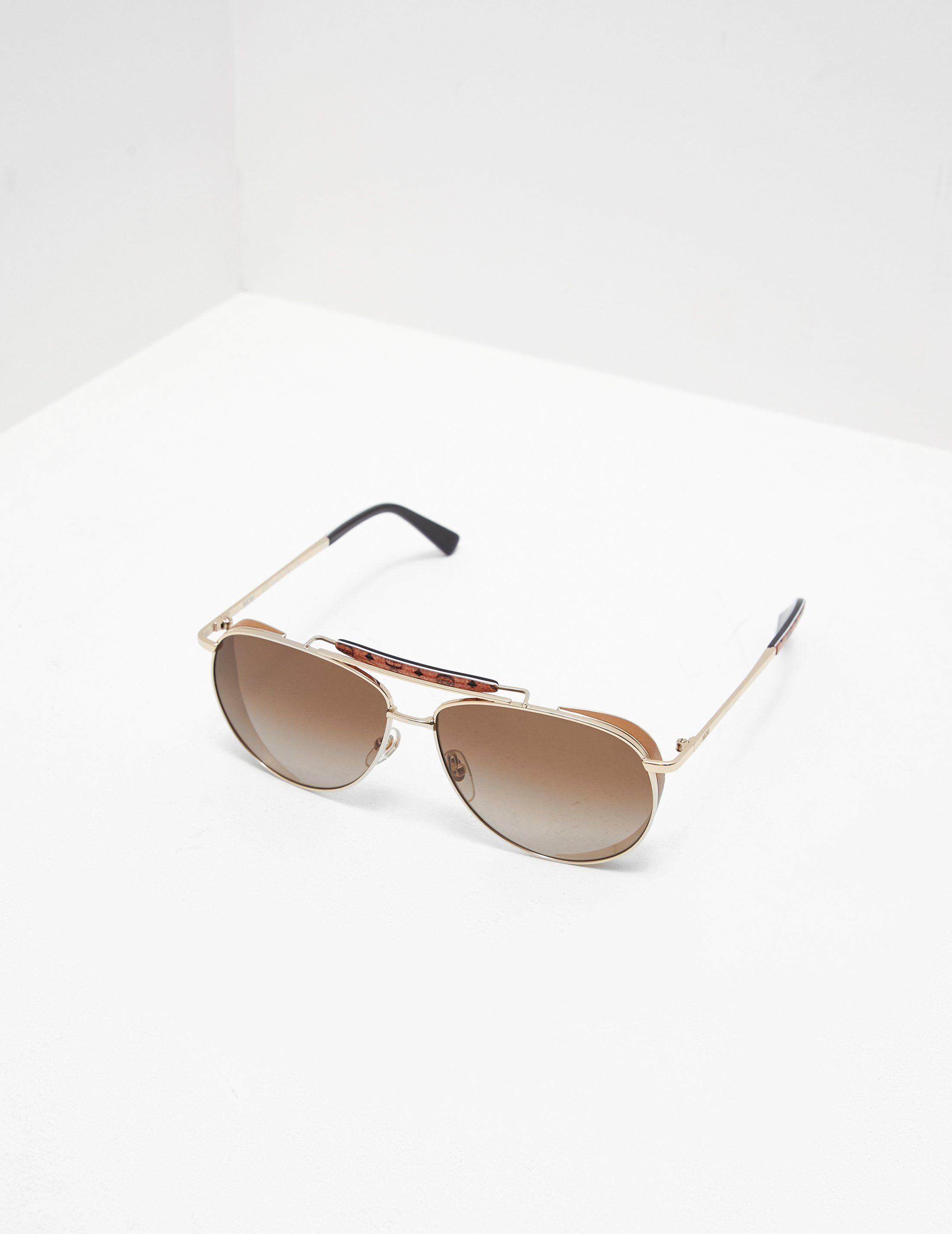 MCM Bar Aviator Sunglasses
