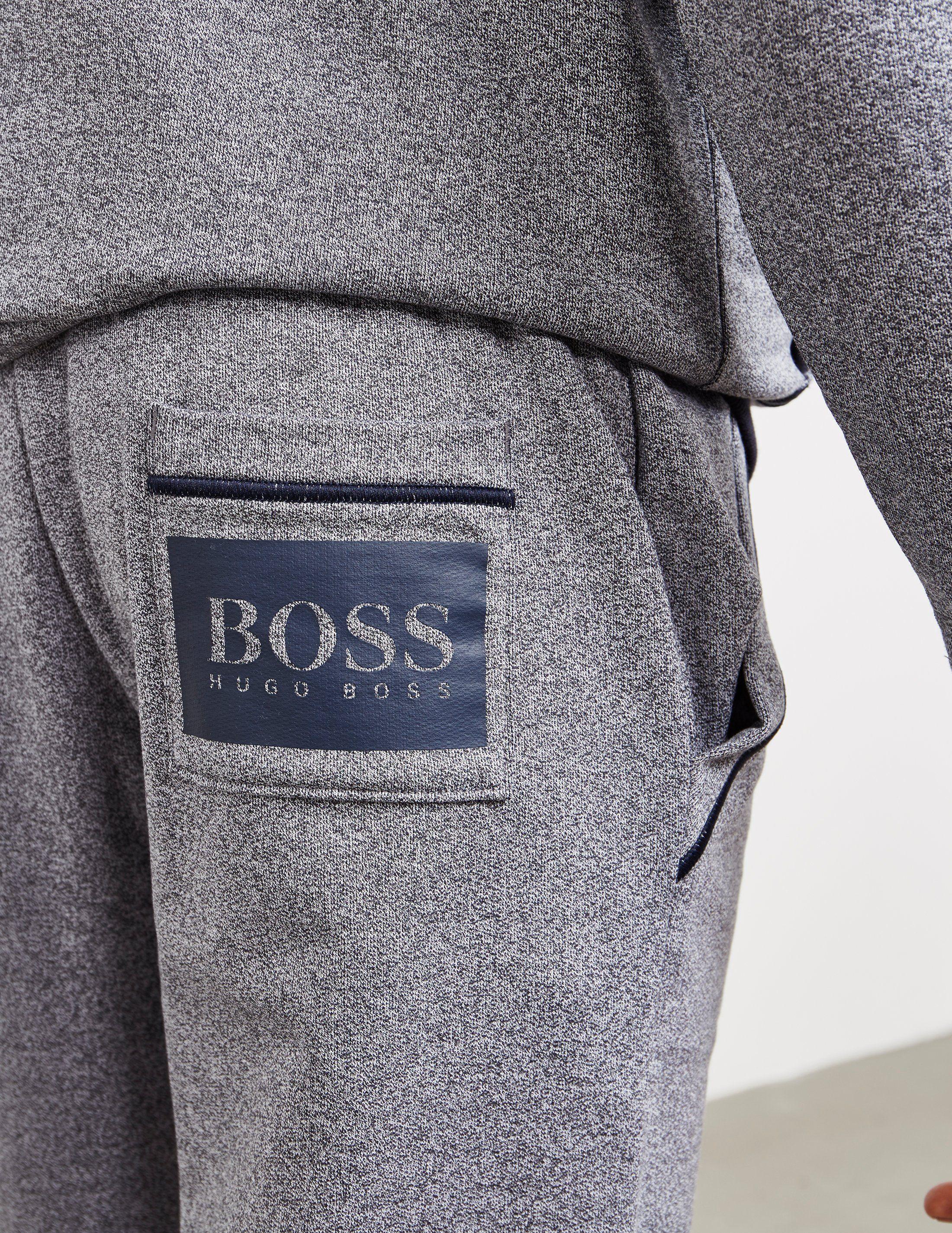 BOSS Stamp Logo Cuffed Fleece Pants