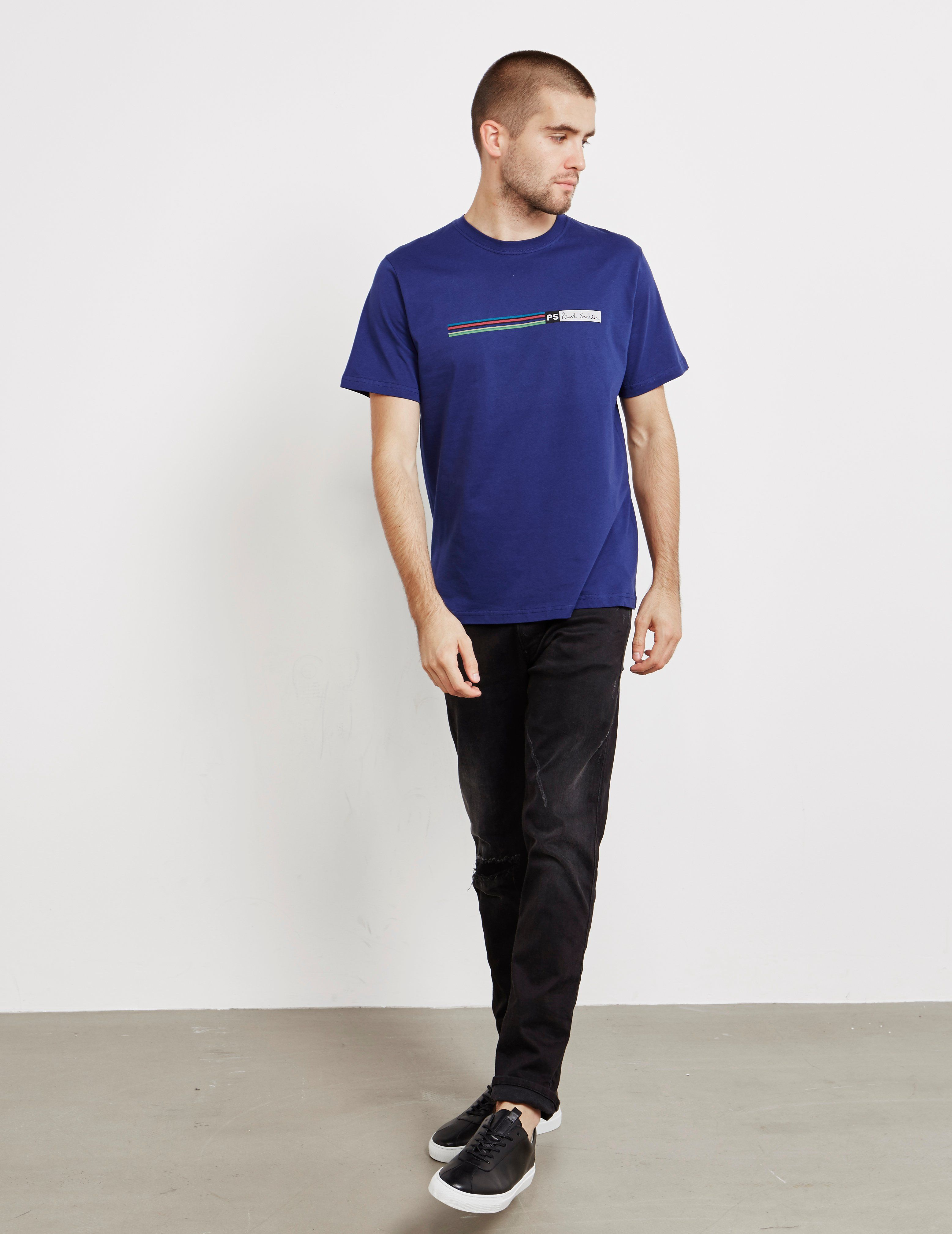 PS Paul Smith Multi Stripe Short Sleeve T-Shirt