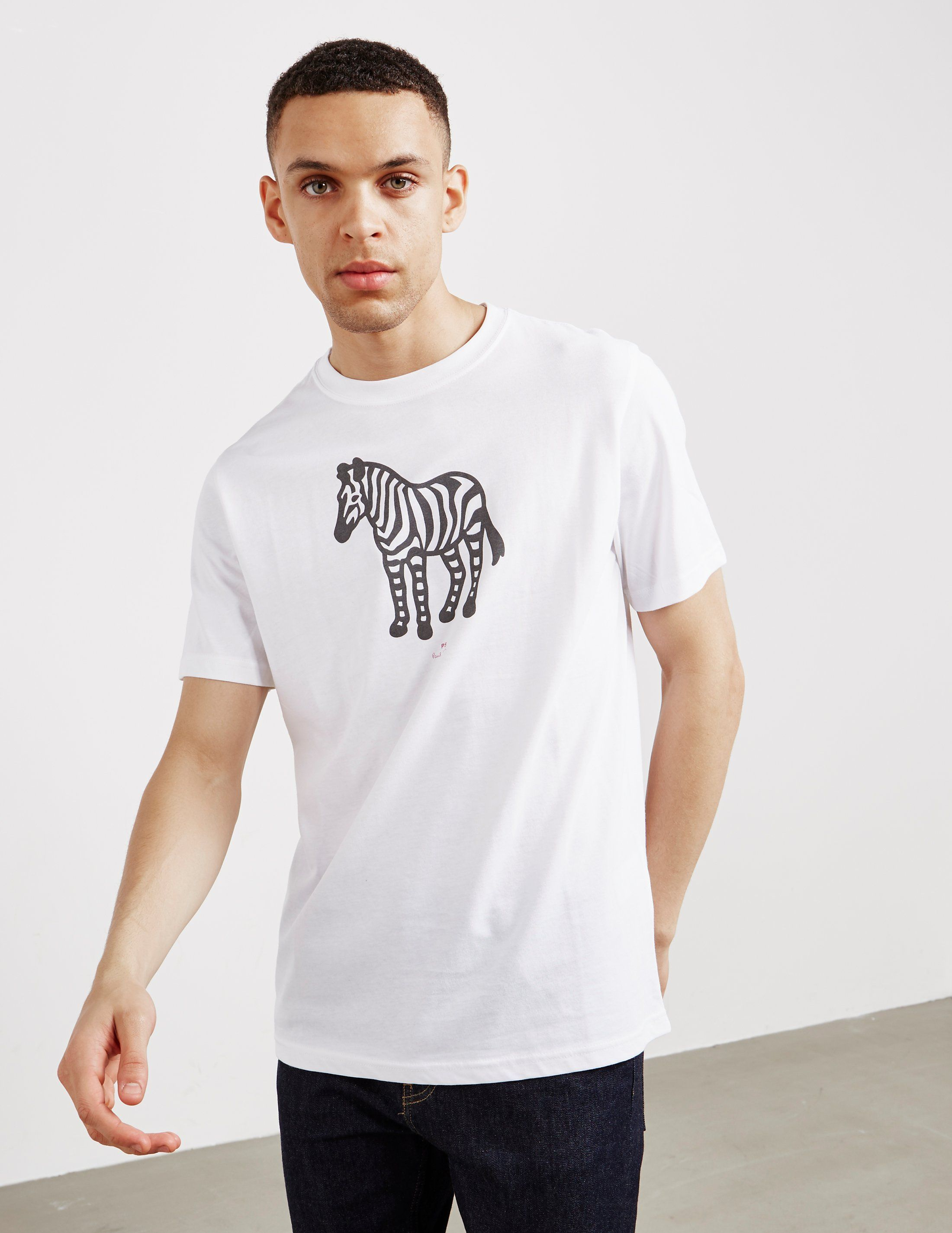 PS Paul Smith Large Zebra Short Sleeve T-Shirt