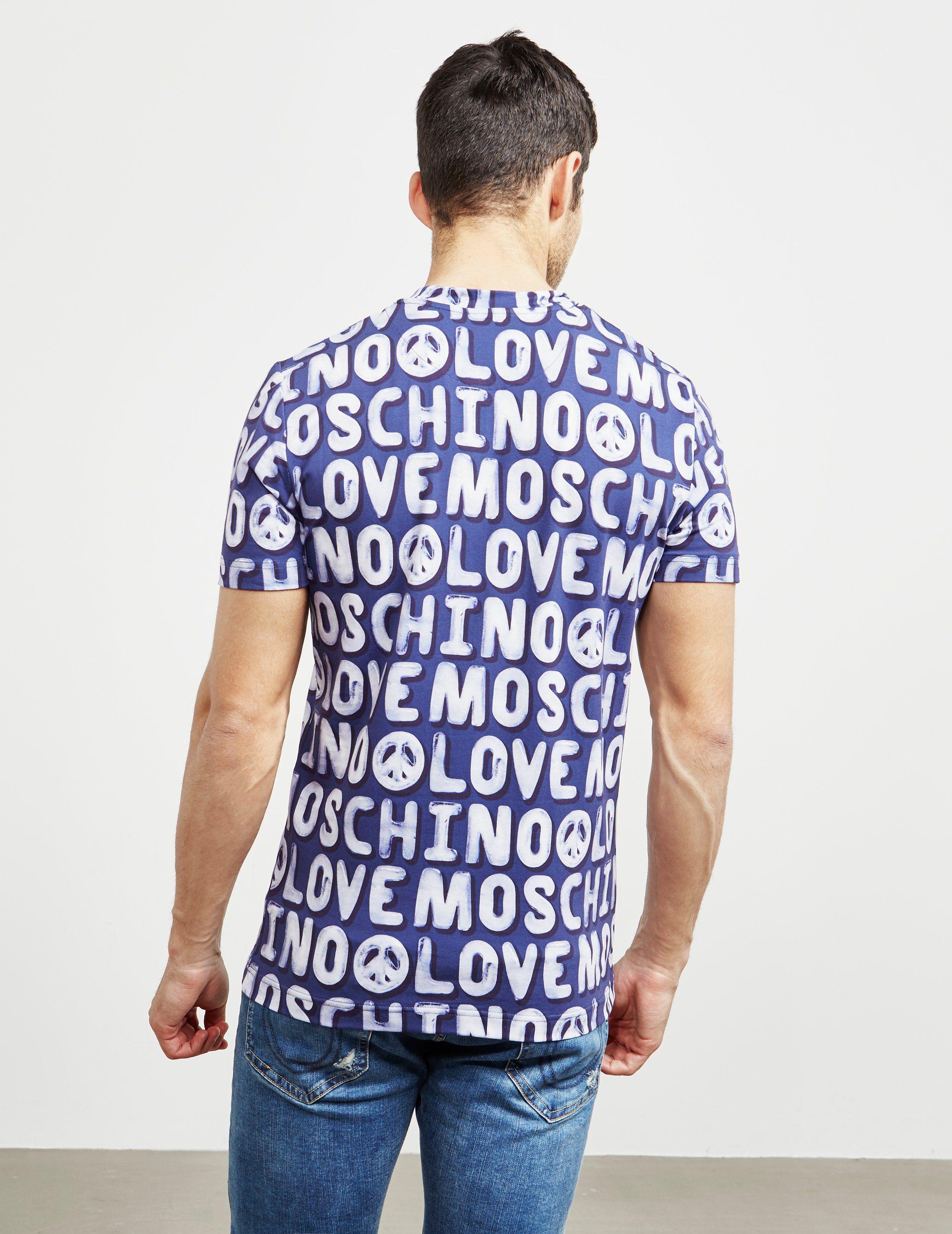 Love Moschino All Over Print Short Sleeve T-Shirt