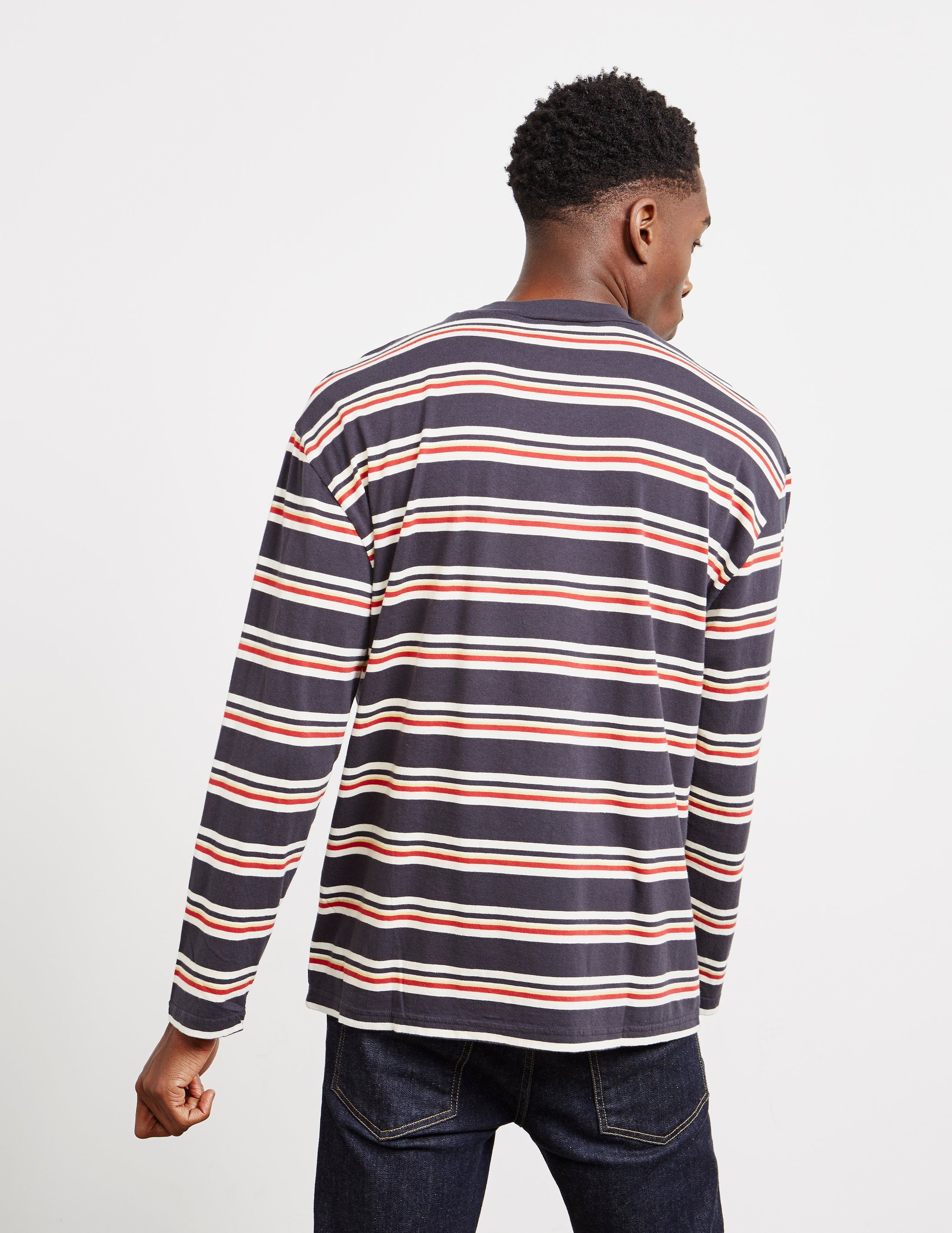 Maison Kitsune Striped Long Sleeve T-Shirt