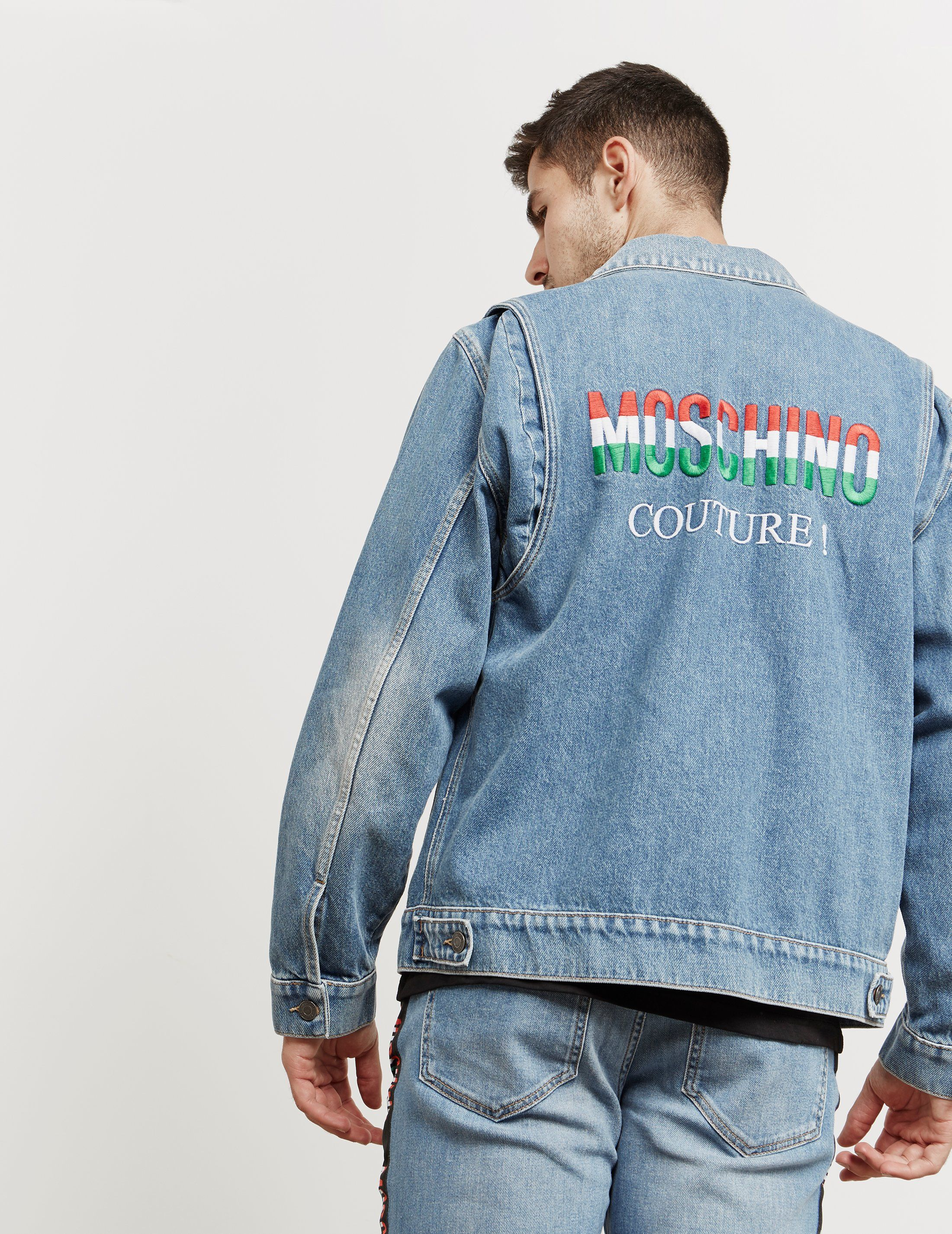 Moschino Milano Embroidered Denim Jacket - Online Exclusive