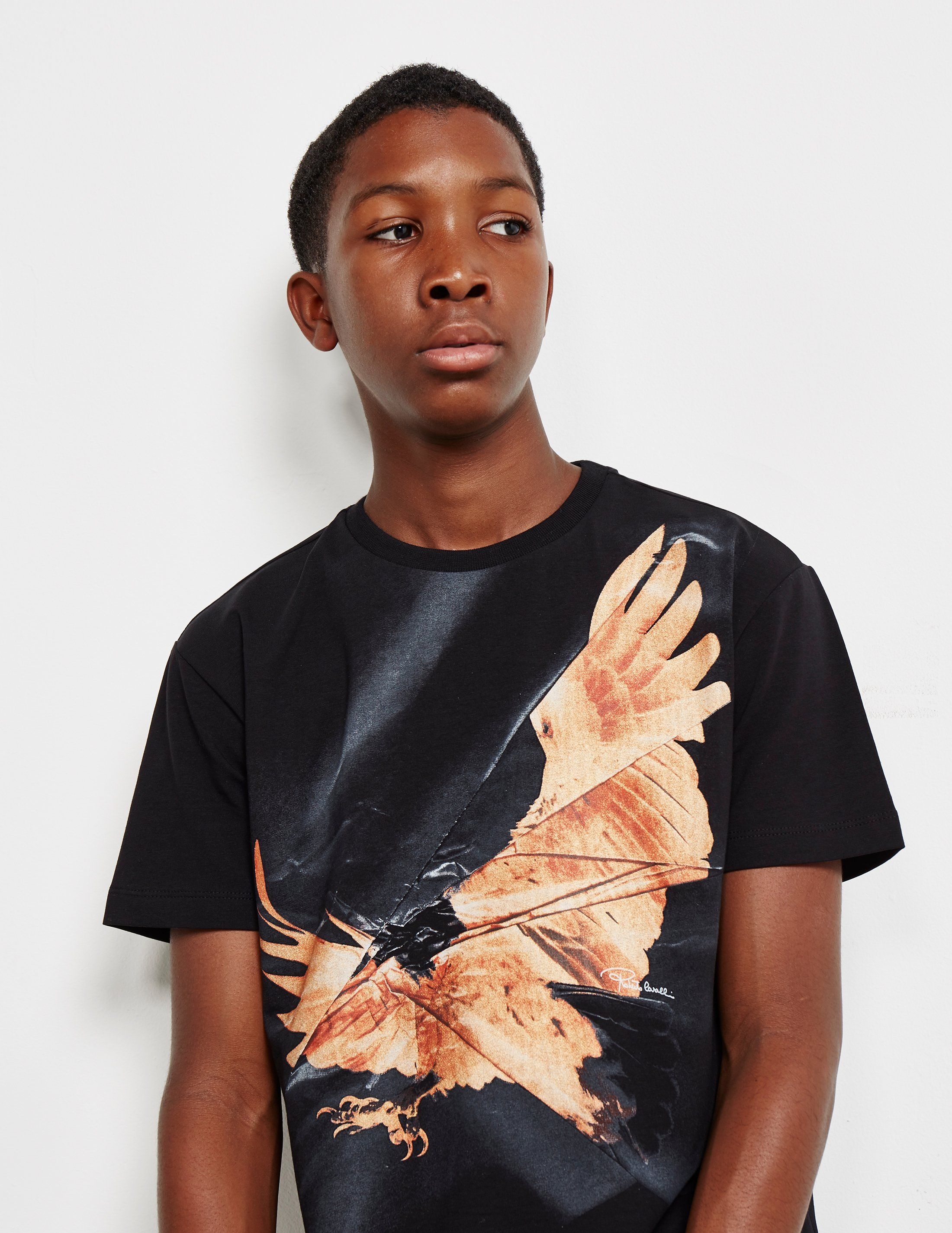 Roberto Cavalli Eagle Logo Short Sleeve T-Shirt