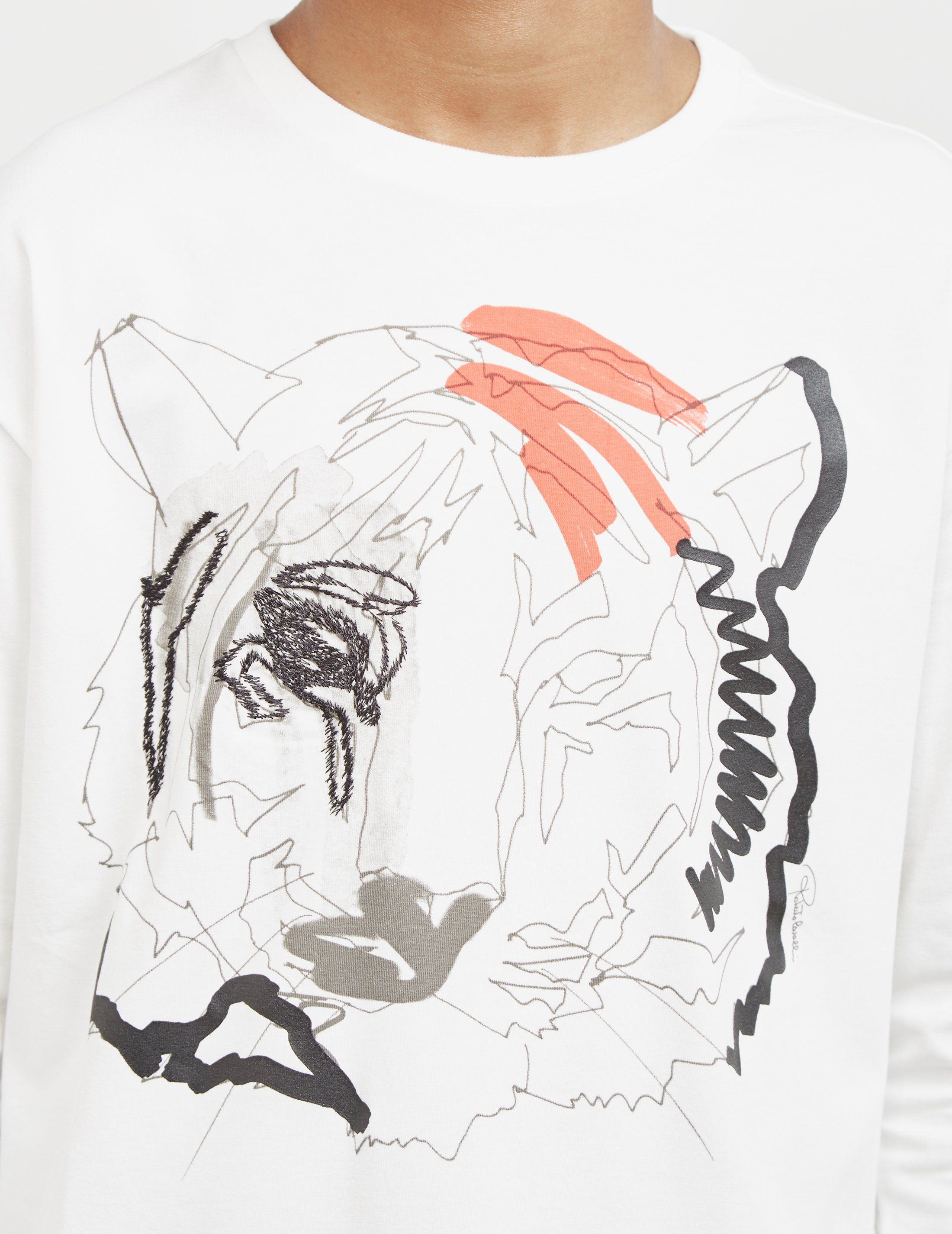 Roberto Cavalli Tiger Print Long Sleeve T-Shirt