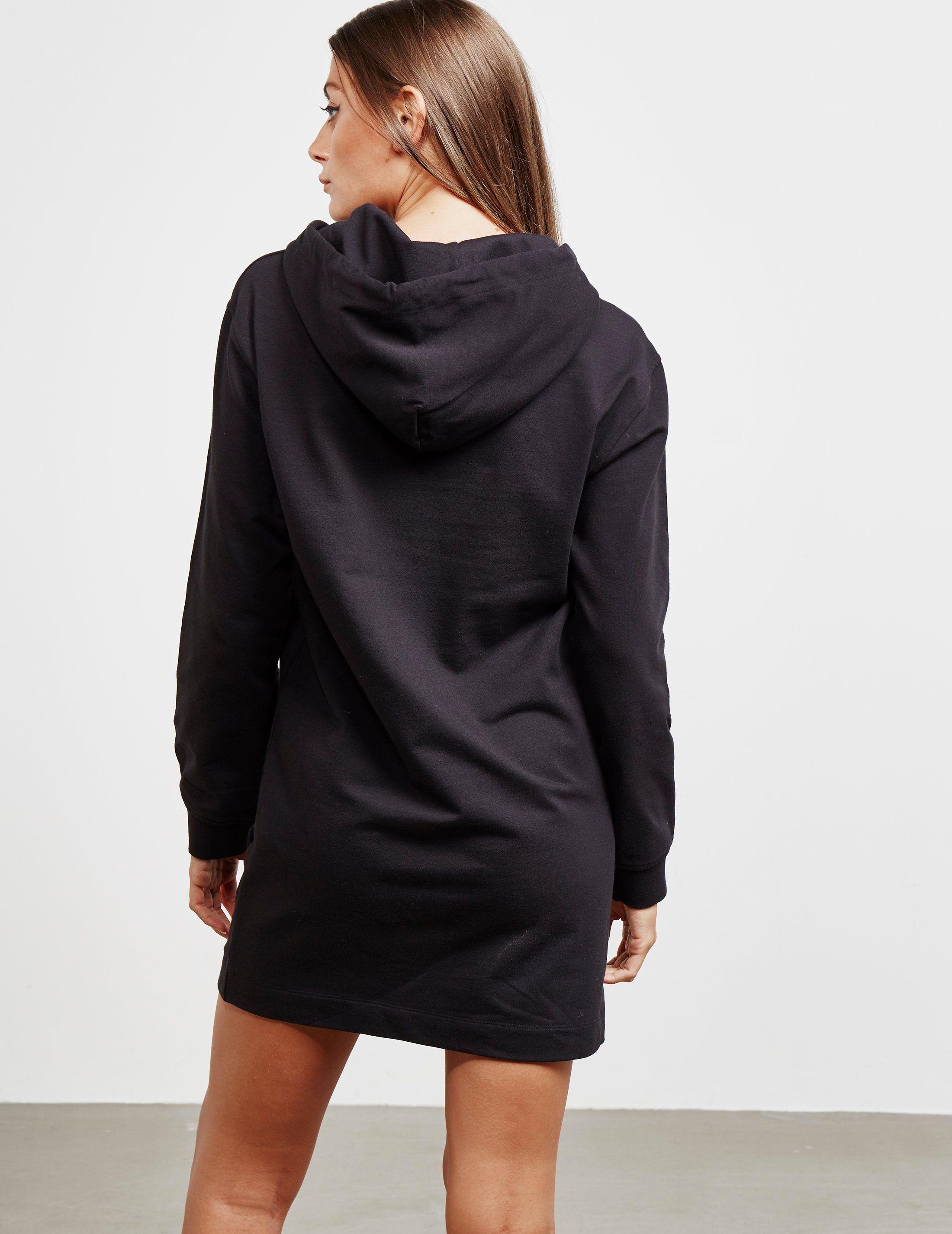 Love Moschino Logo Heart Sweatshirt Dress
