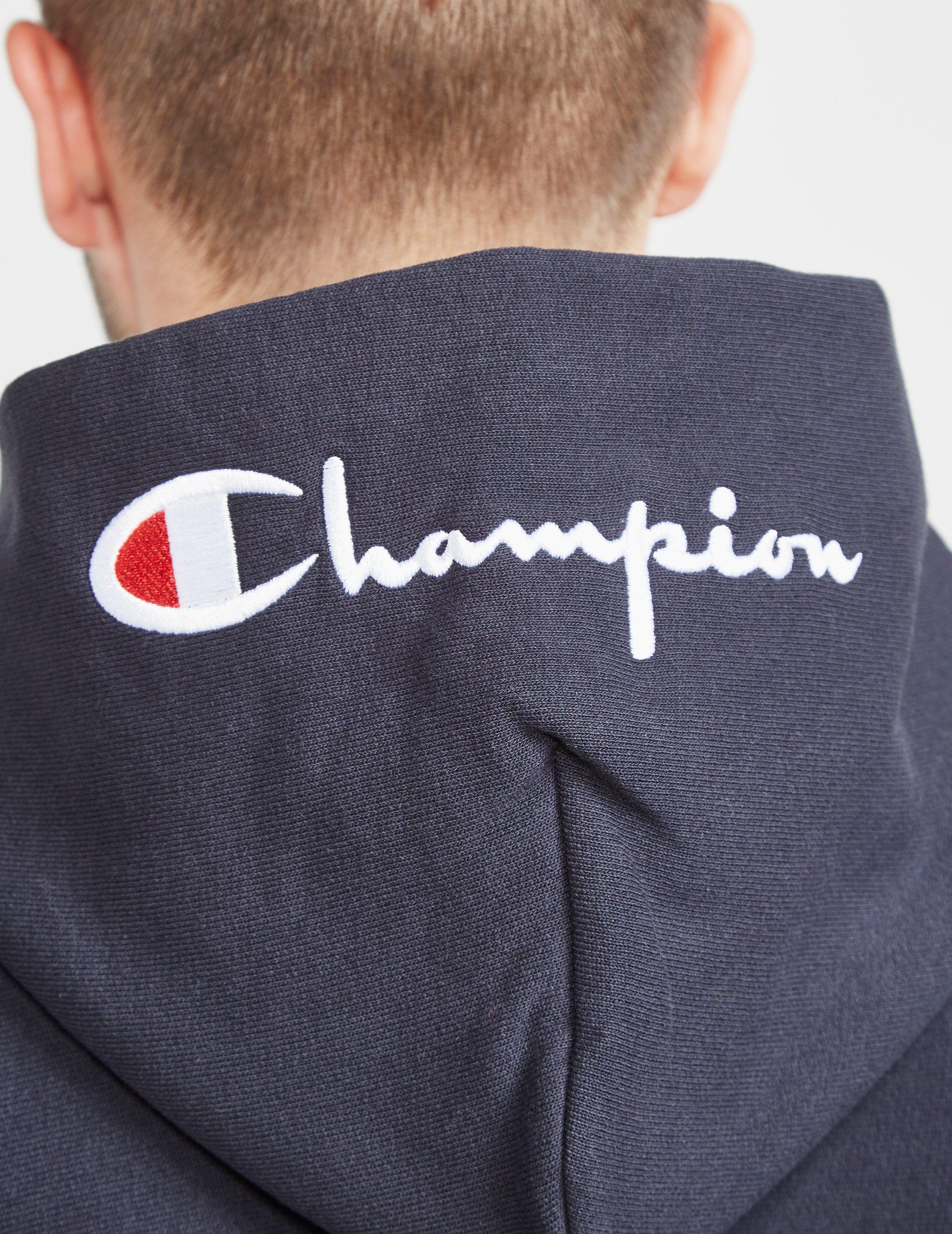 Champion Logo Full Zip Hoodie