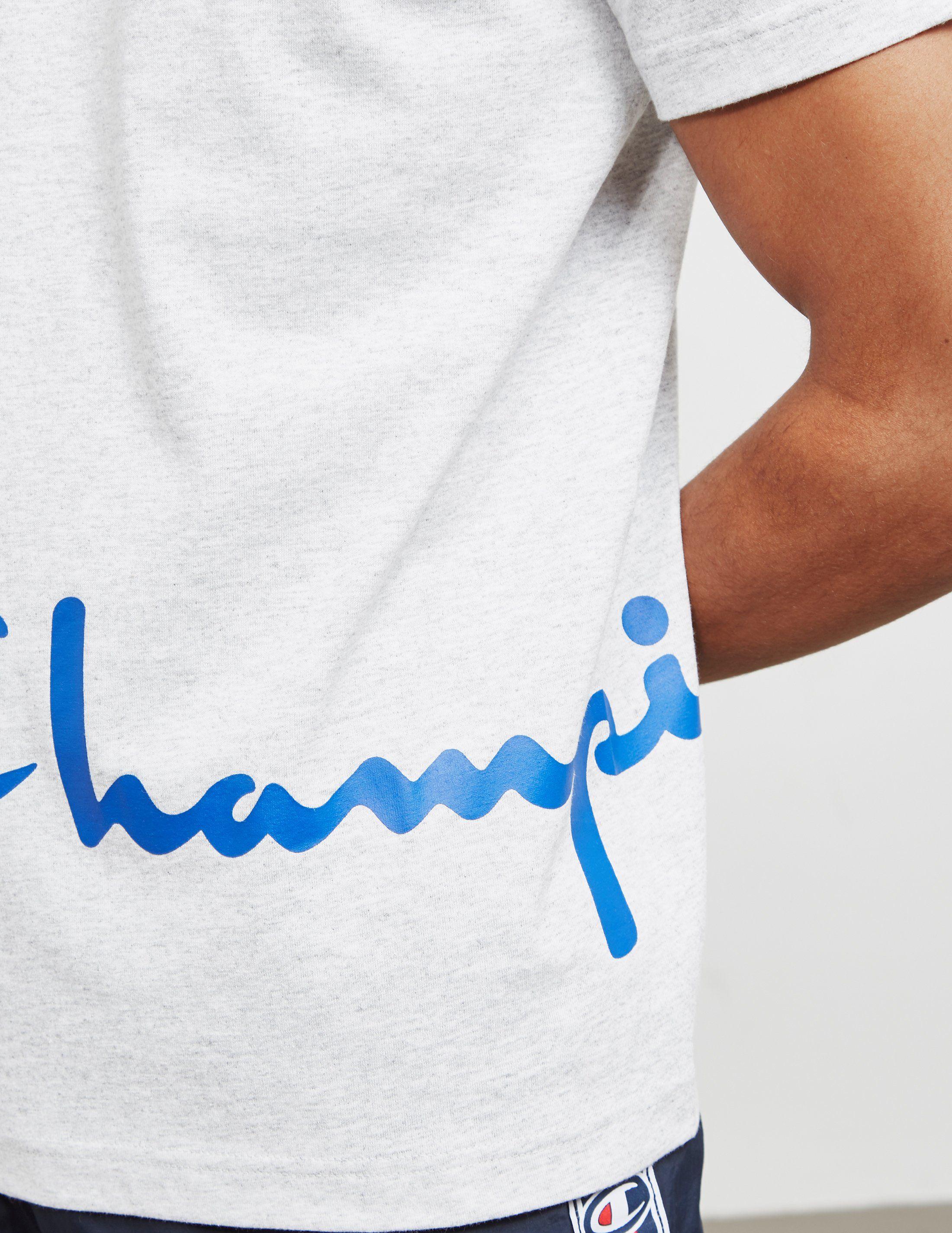 Champion Offset Logo Short Sleeve T-Shirt