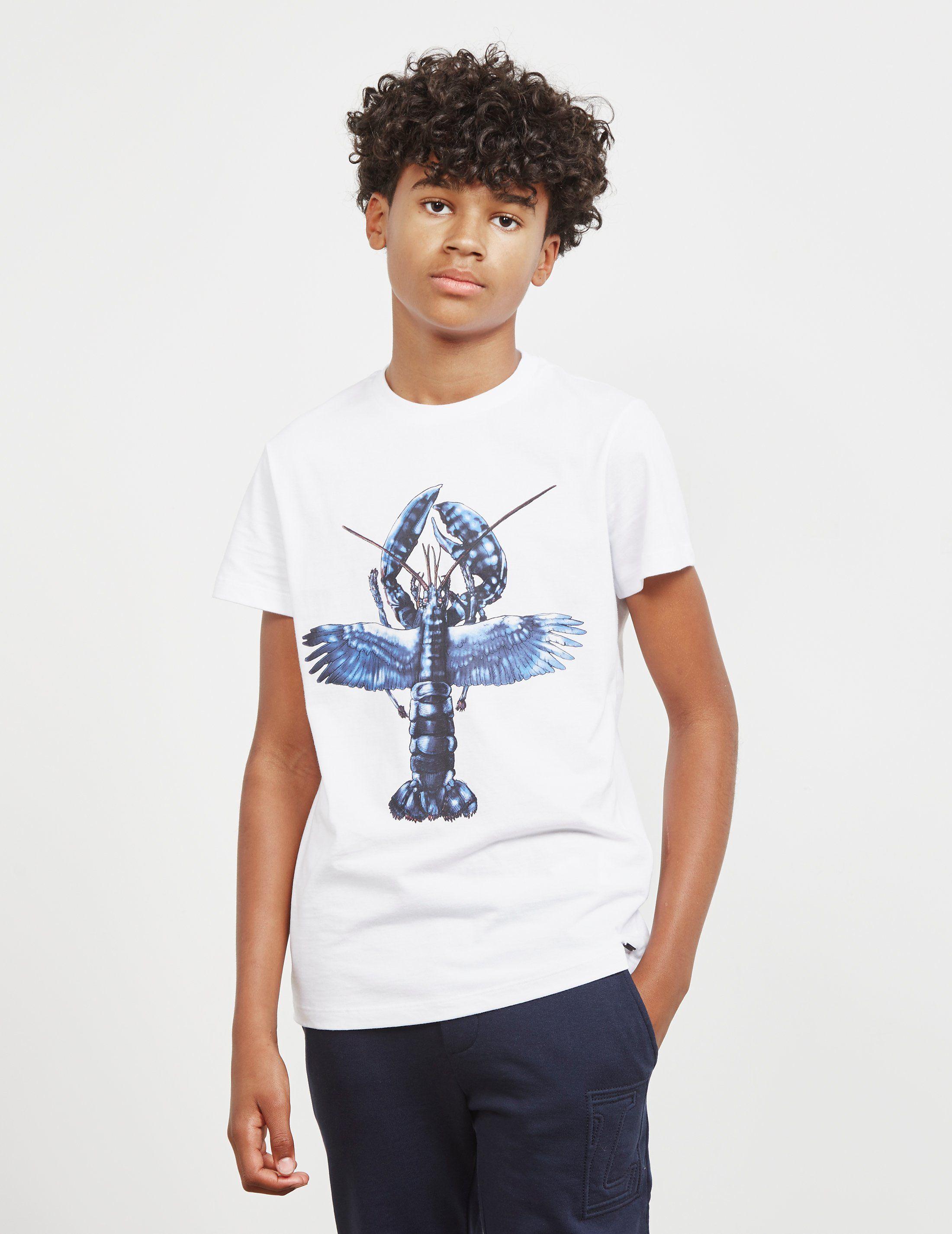Lanvin Lobster Print Short Sleeve T-Shirt