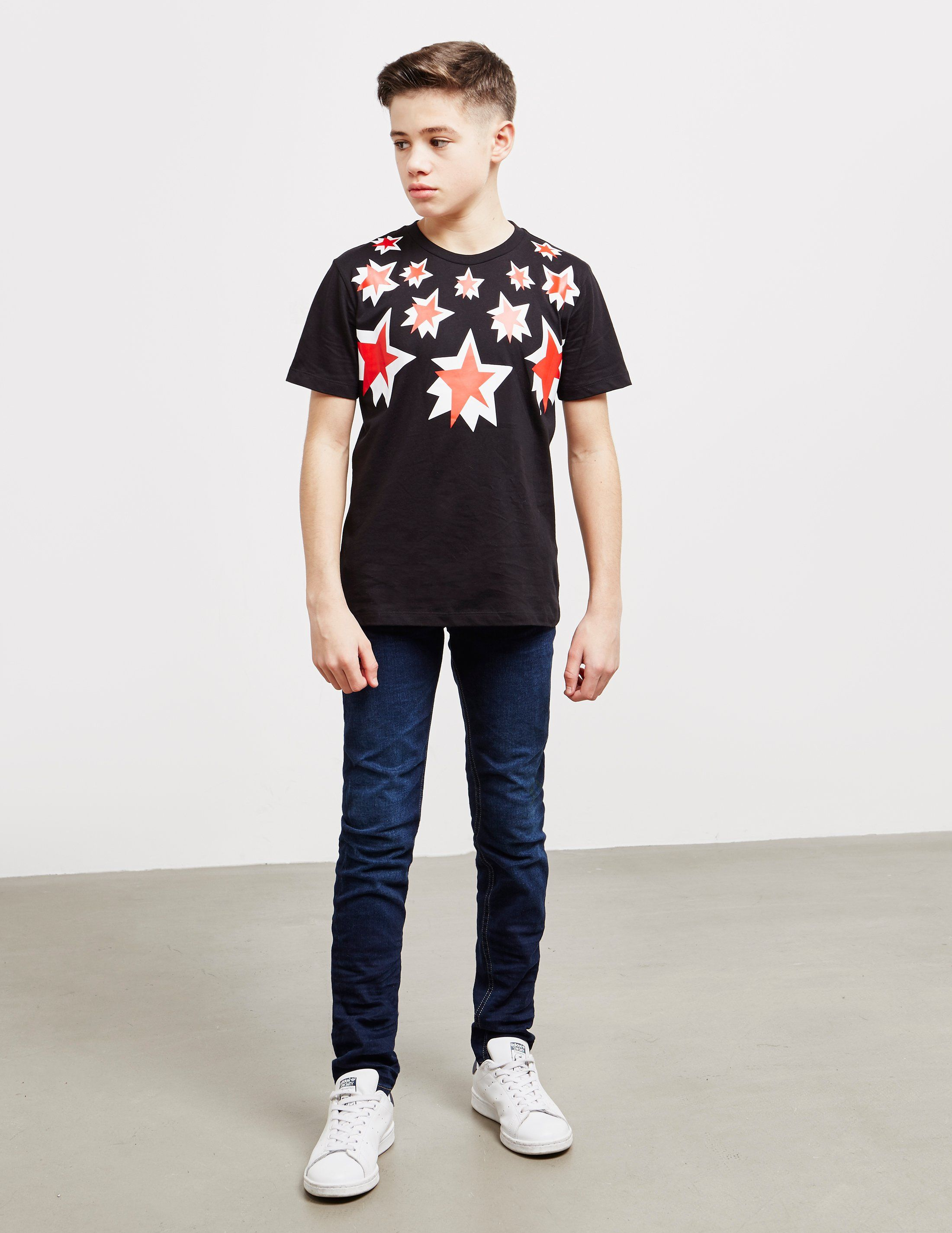 Neil Barrett Multi Star Short Sleeve T-Shirt