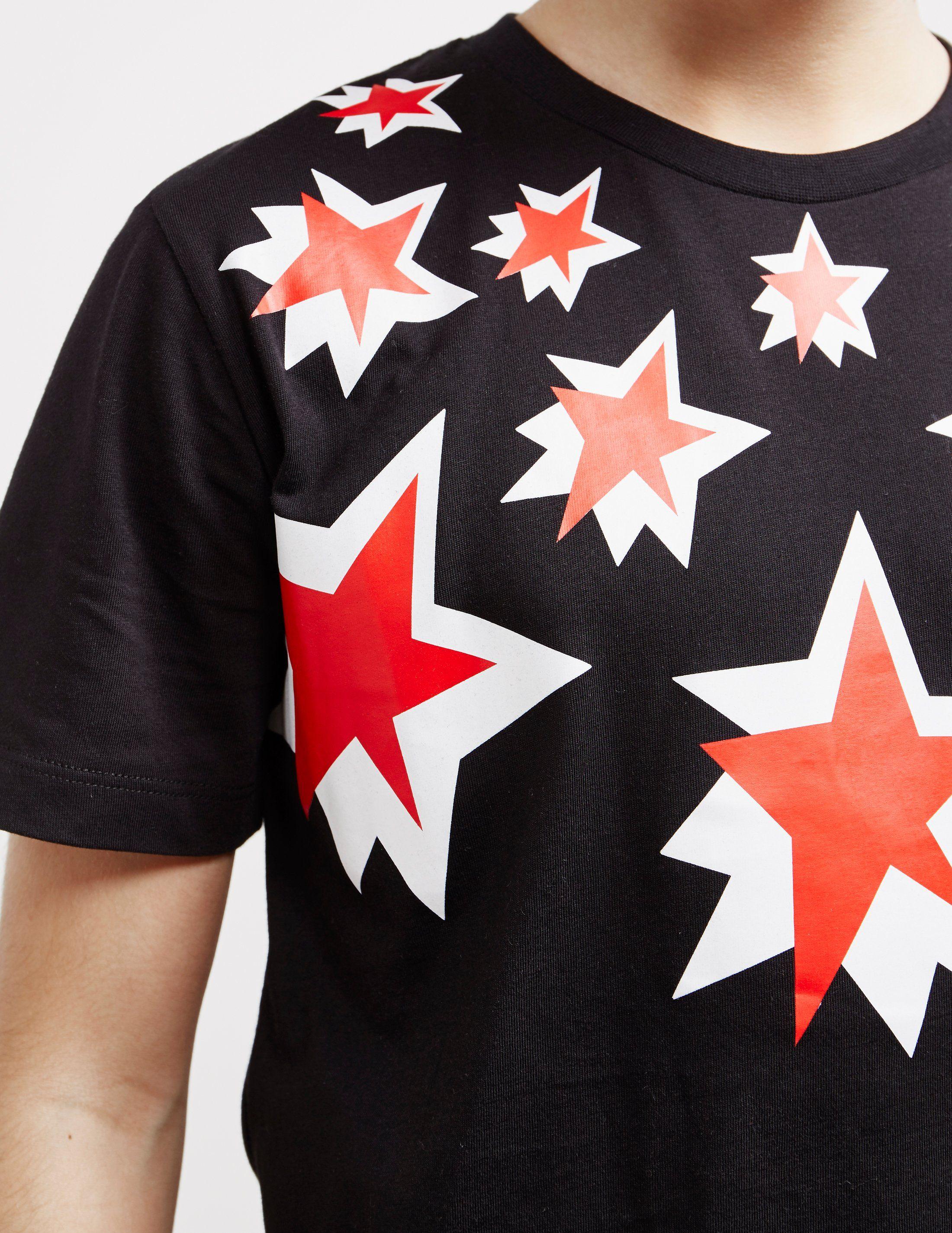 Neil Barrett Multi Star Short Sleeve T-Shirt
