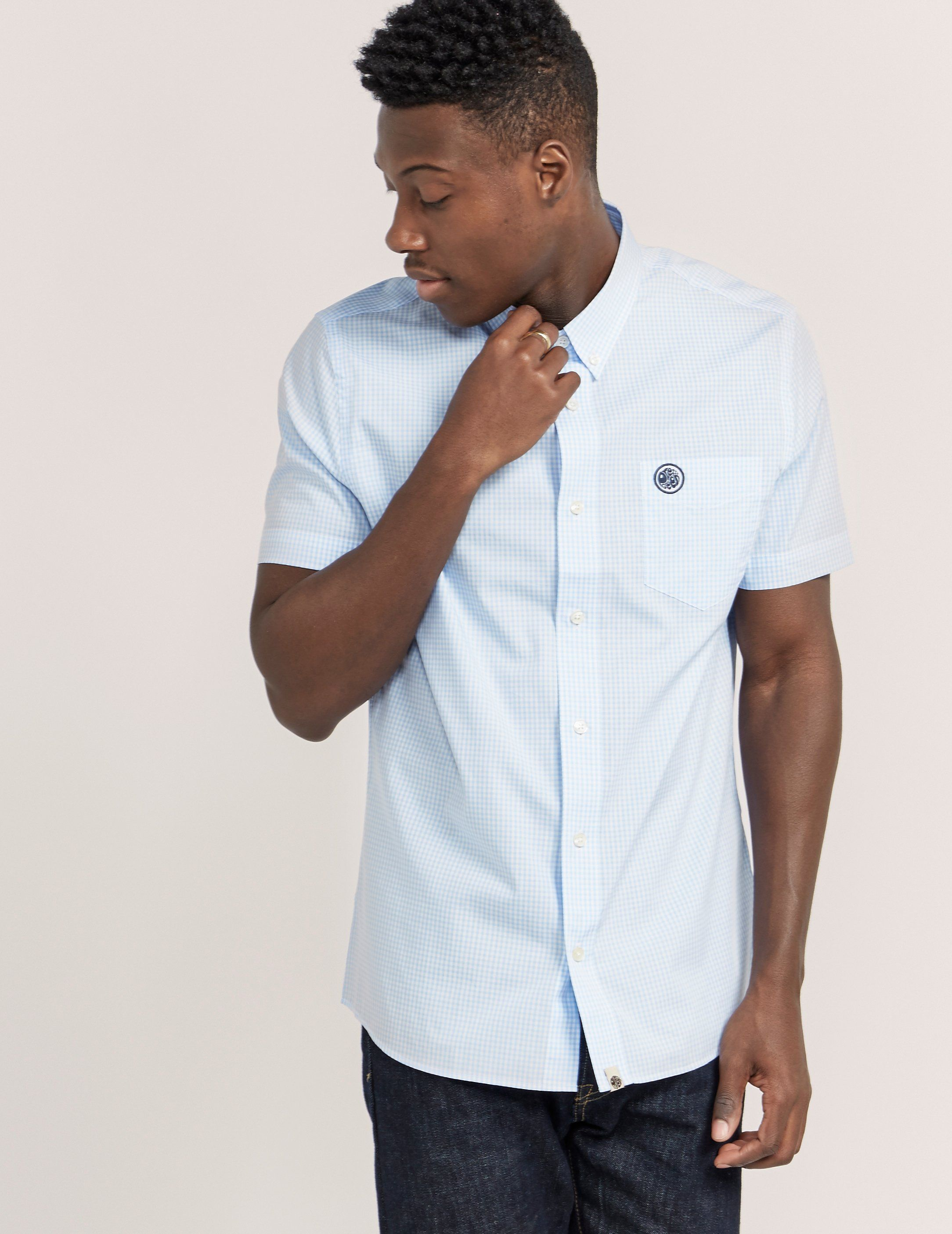 Pretty Green Gingham Short Sleeve Shirt - Exclusive