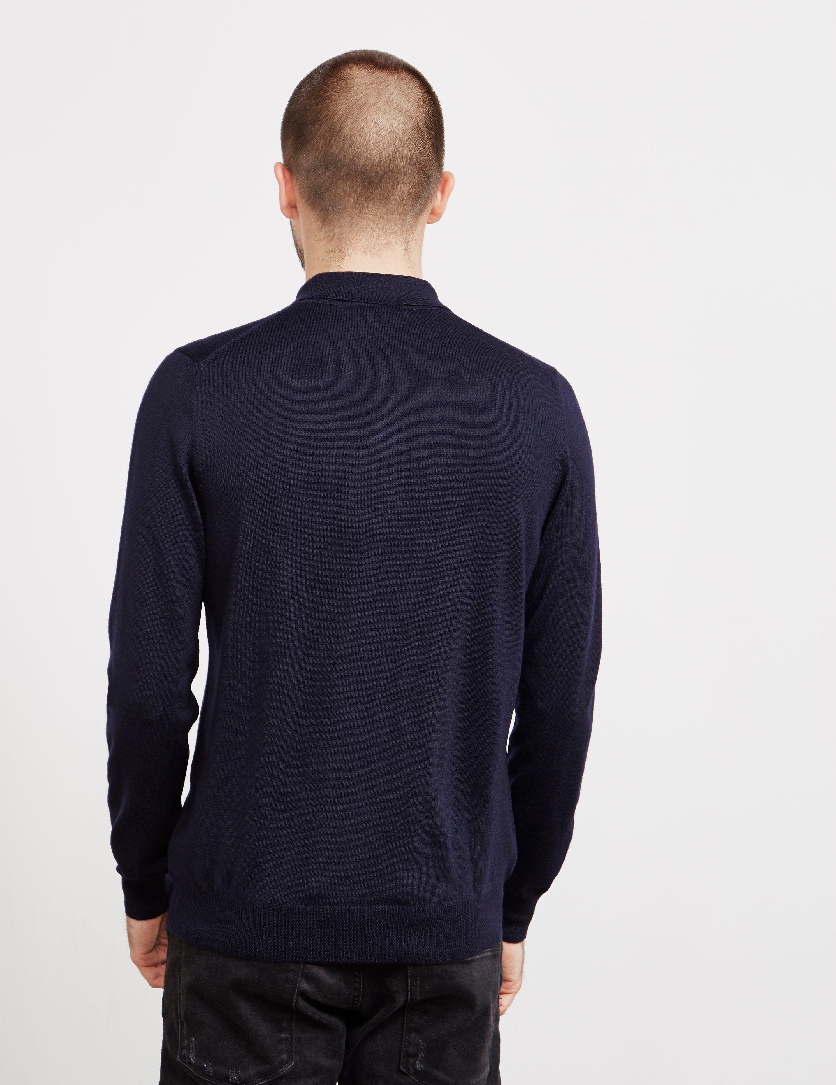 Gran Sasso Knit Long Sleeve Polo Shirt
