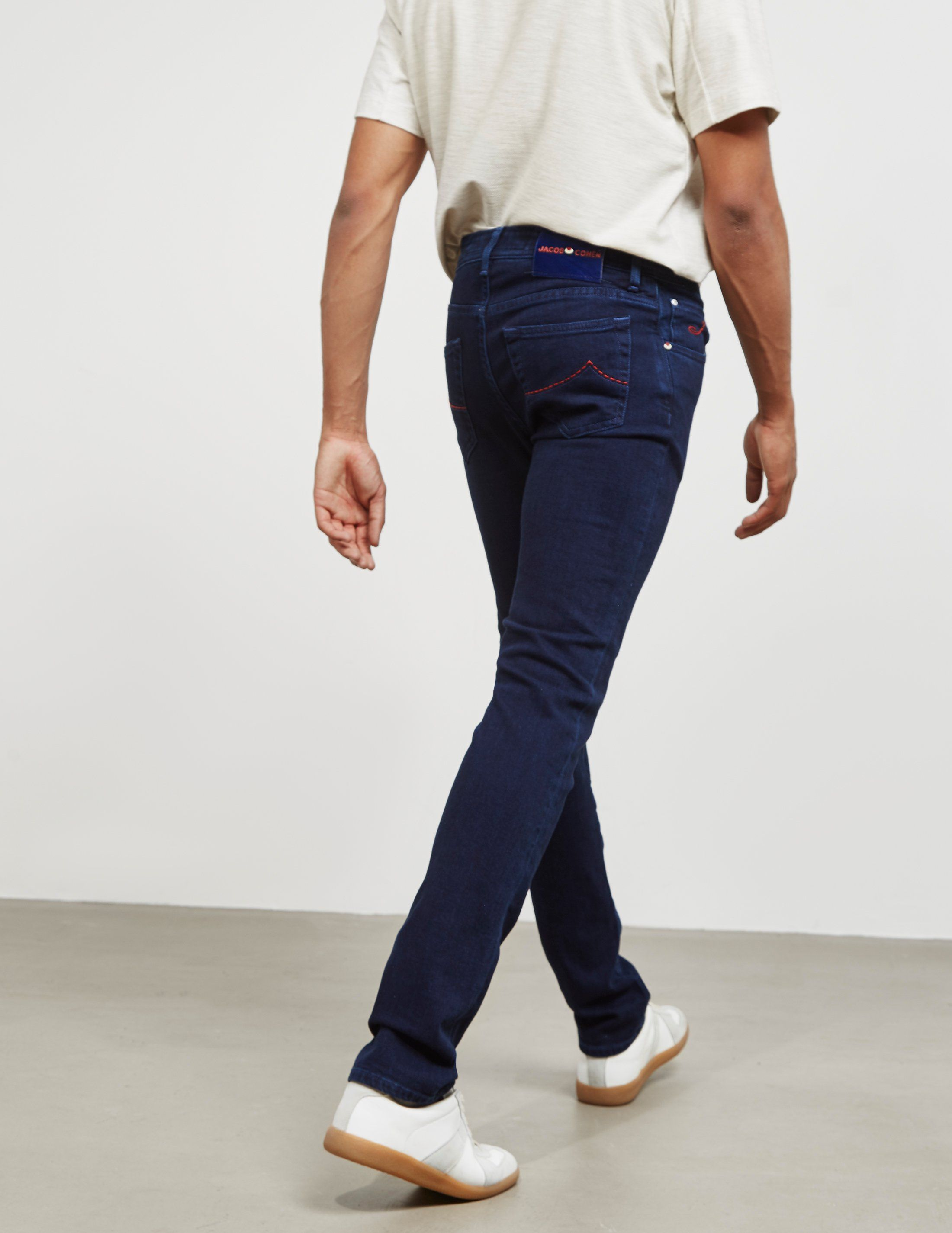Jacob Cohen 622 Colour Stitch Skinny Jeans