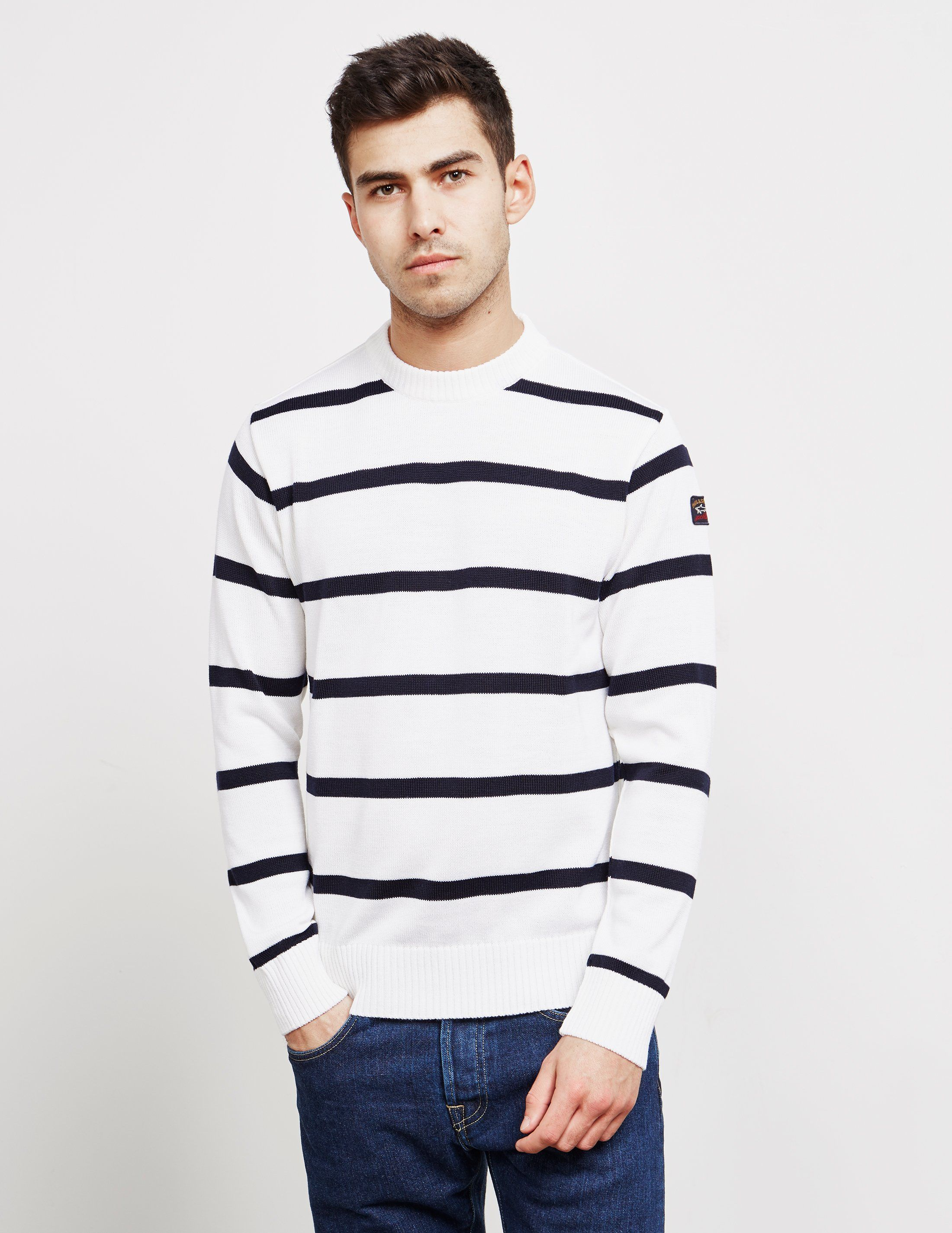 Paul and Shark Chunky Stripe Knitted Jumper