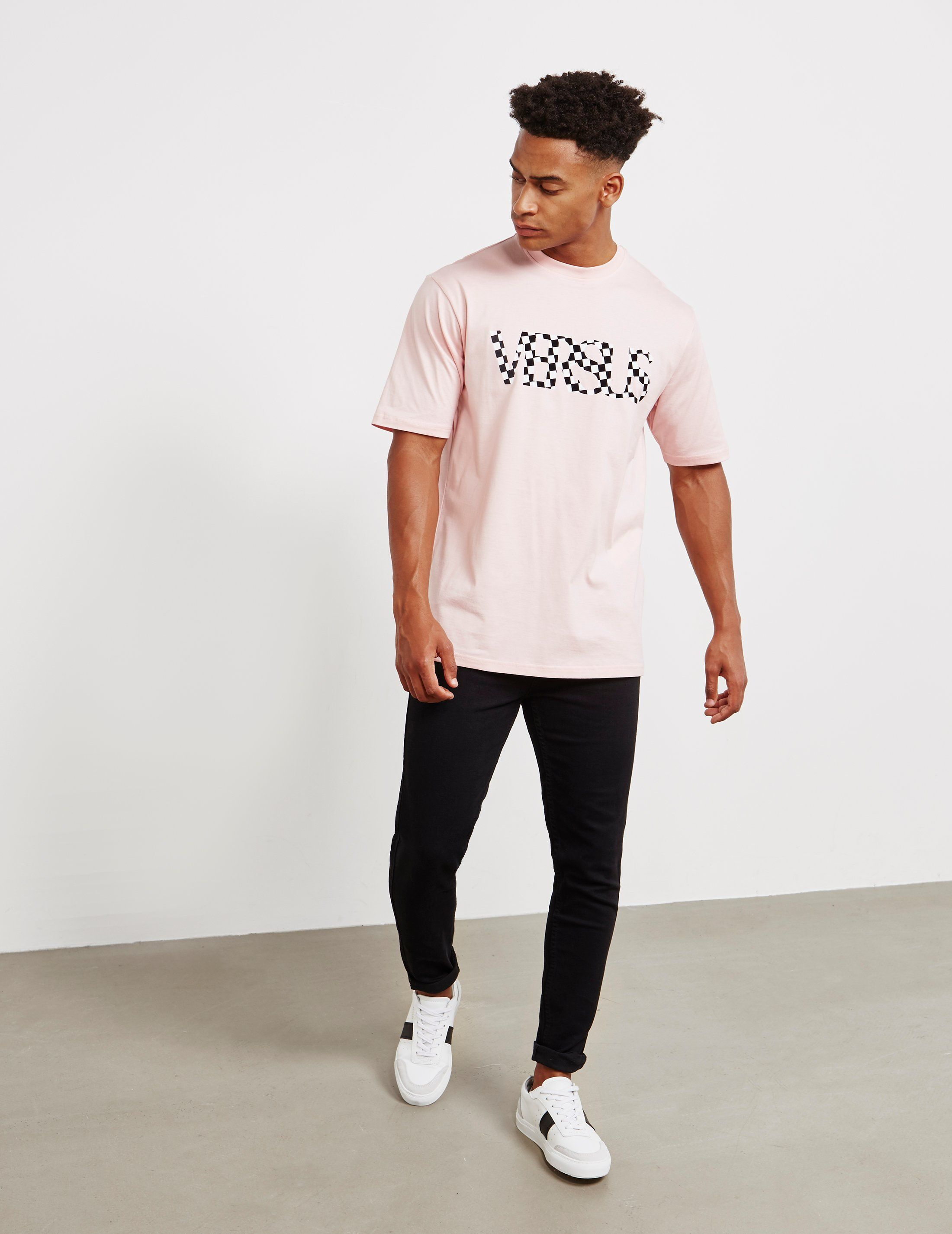 Versus Versace Check Short Sleeve T-Shirt
