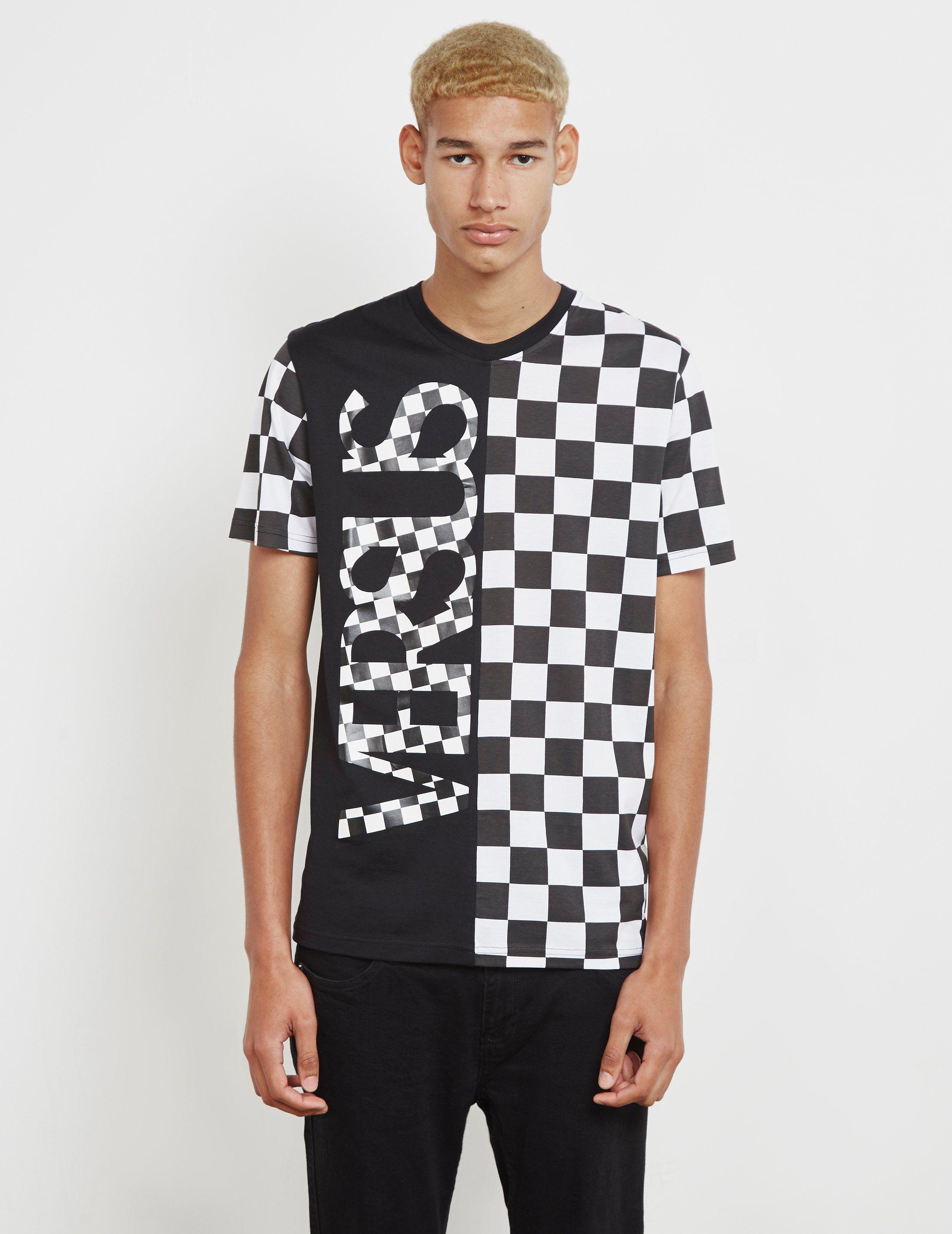 Versus Versace Half Check Short Sleeve T-Shirt - Online Exclusive