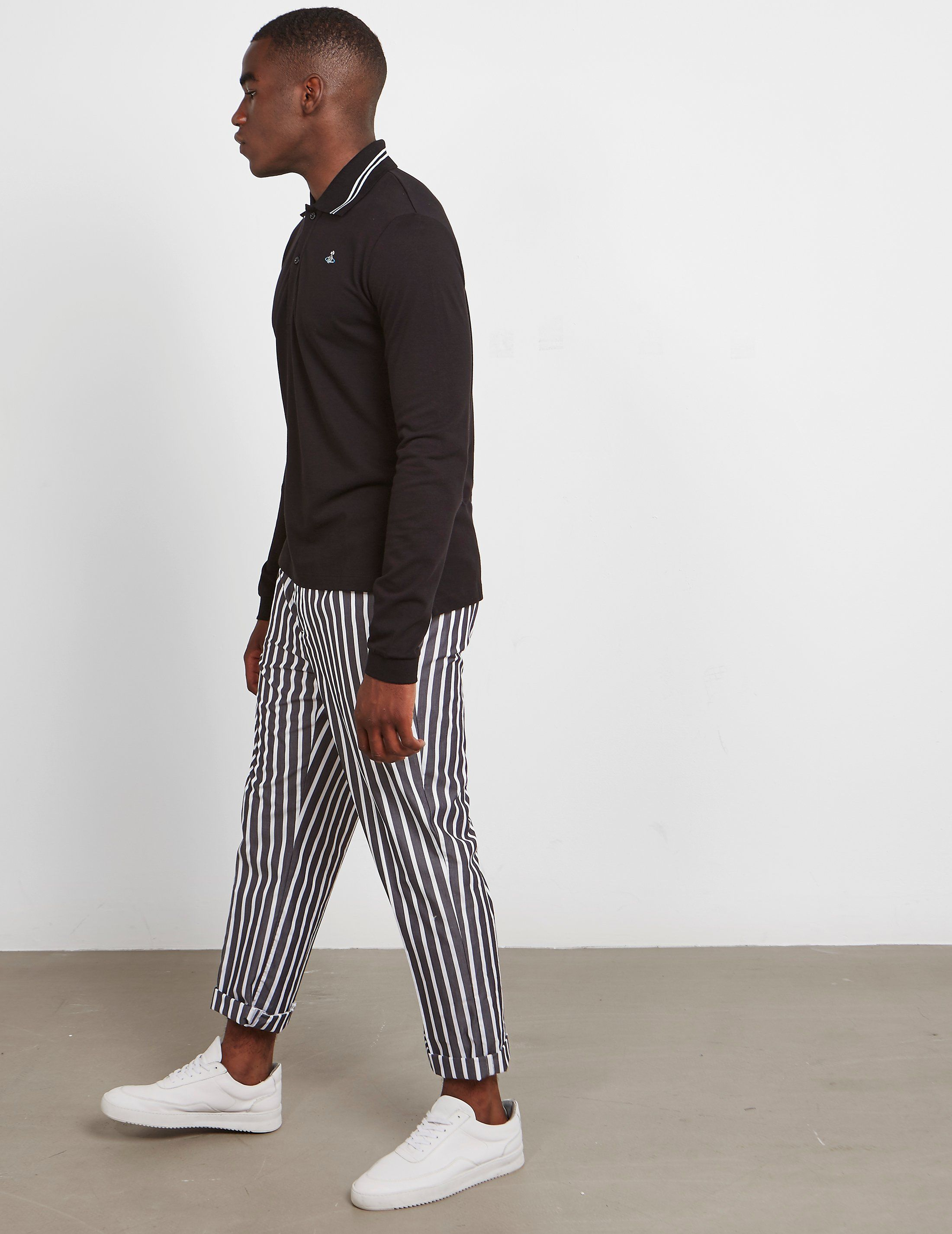 Vivienne Westwood Oversized Collar Long Sleeve Polo Shirt