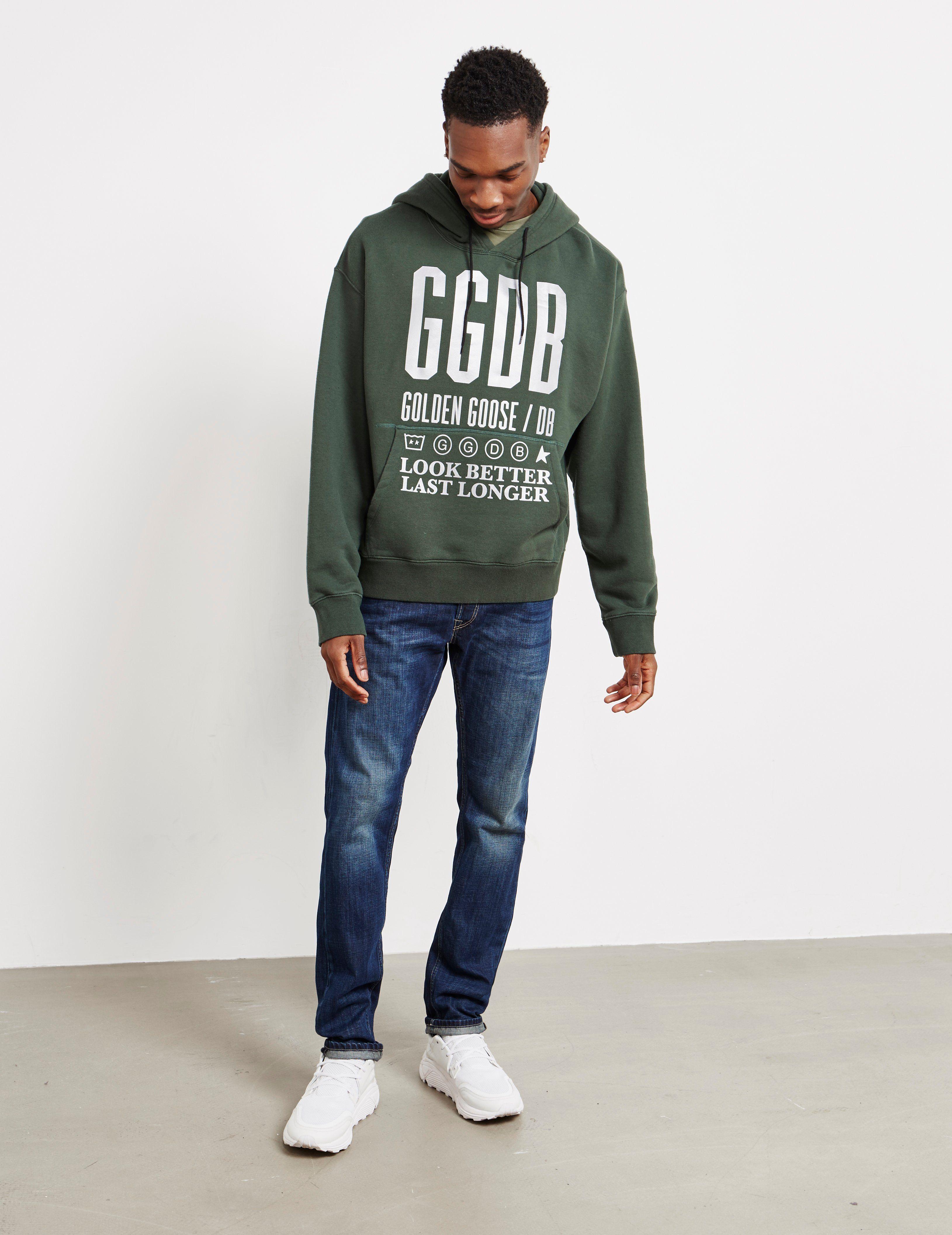 Golden Goose Deluxe Brand Reflective Logo Overhead Hoodie - Online Exclusive