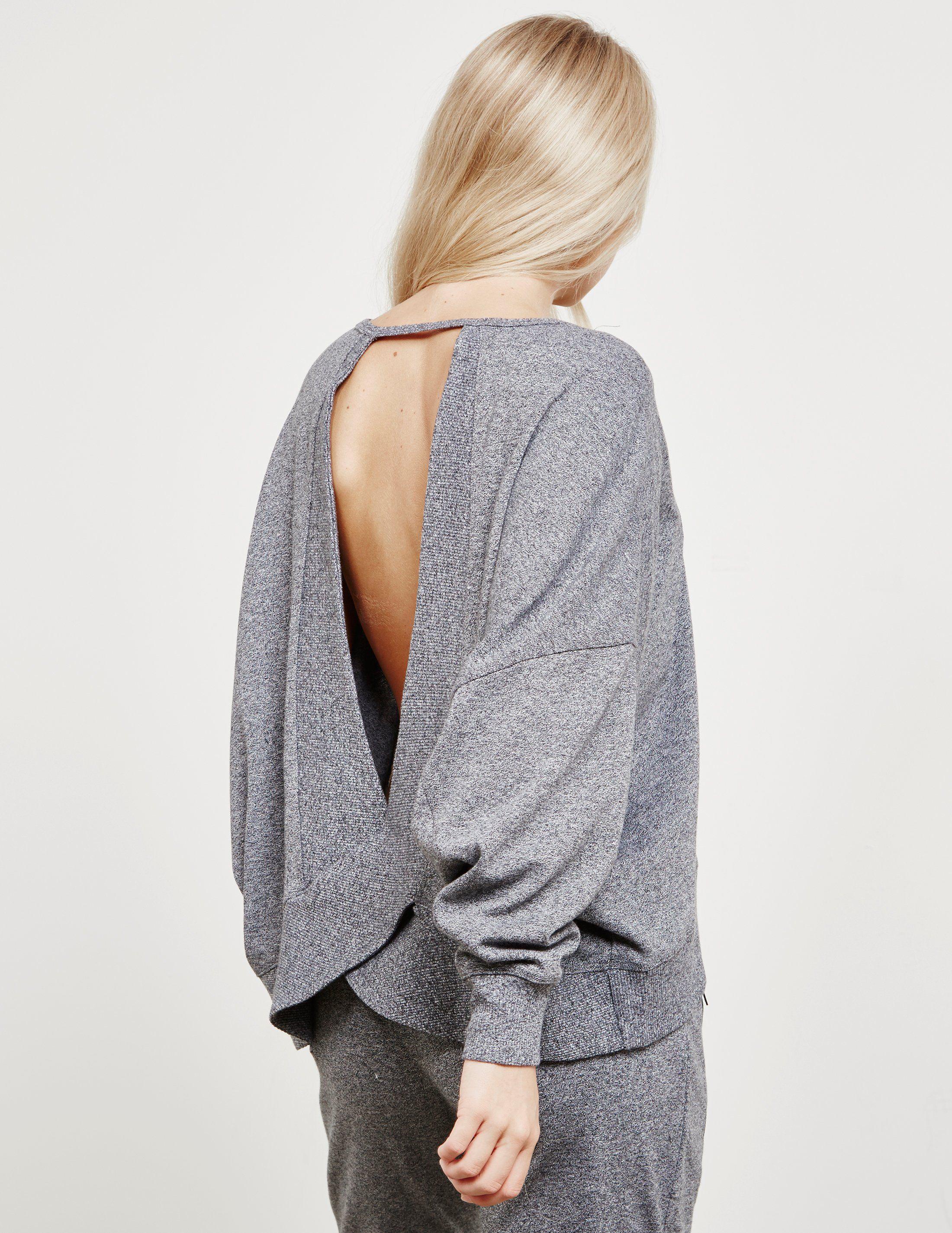 DKNY Open Back Sweatshirt