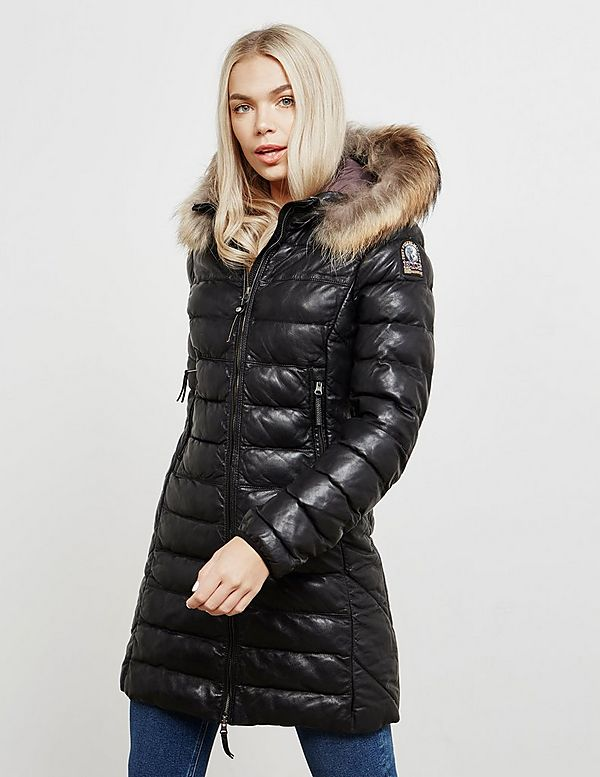 parajumpers demi leather womens parka