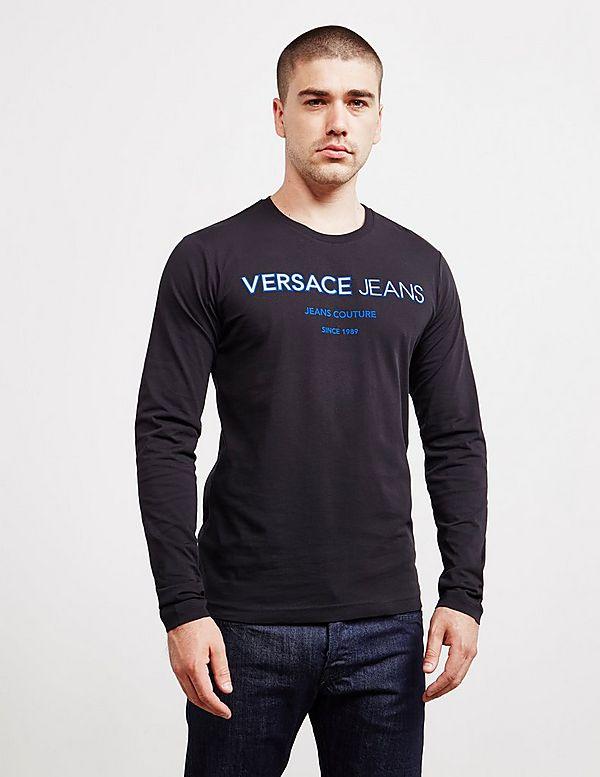 cff6b30459844 Versace Jeans Emboss Logo Long Sleeve T-Shirt