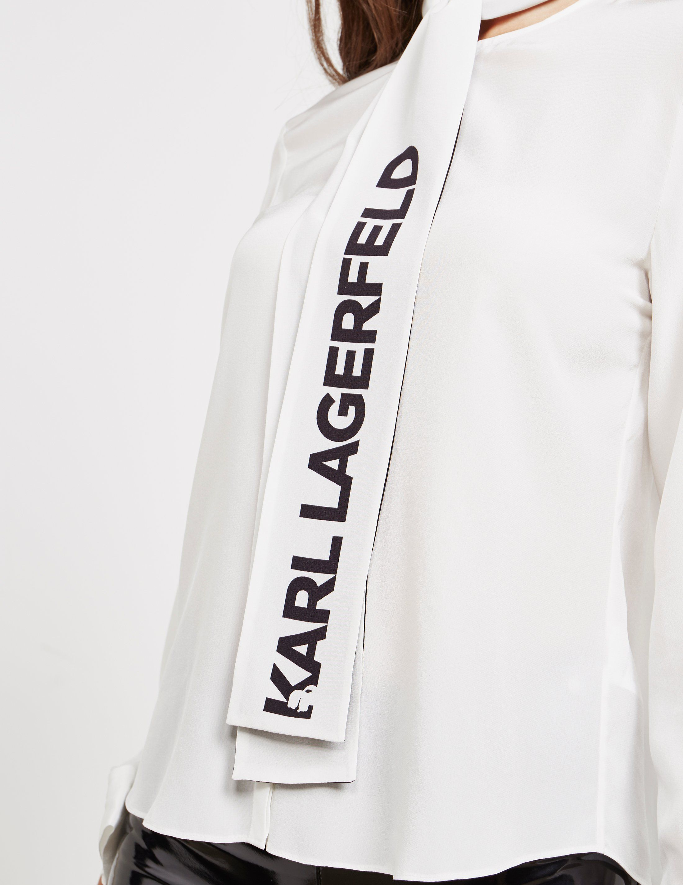 Karl Lagerfeld Logo Blouse
