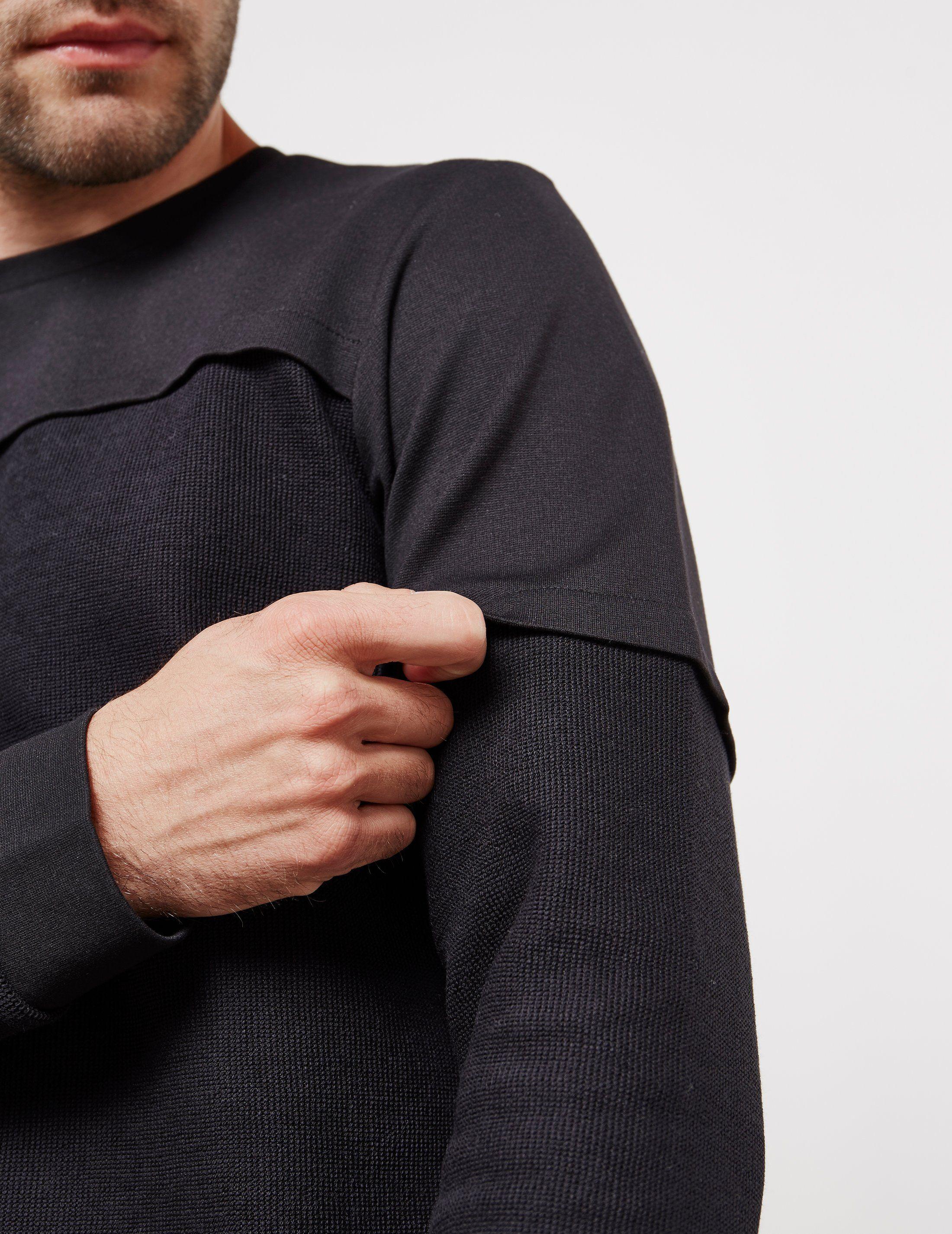 Pal Zileri Waffle Panel Sweatshirt