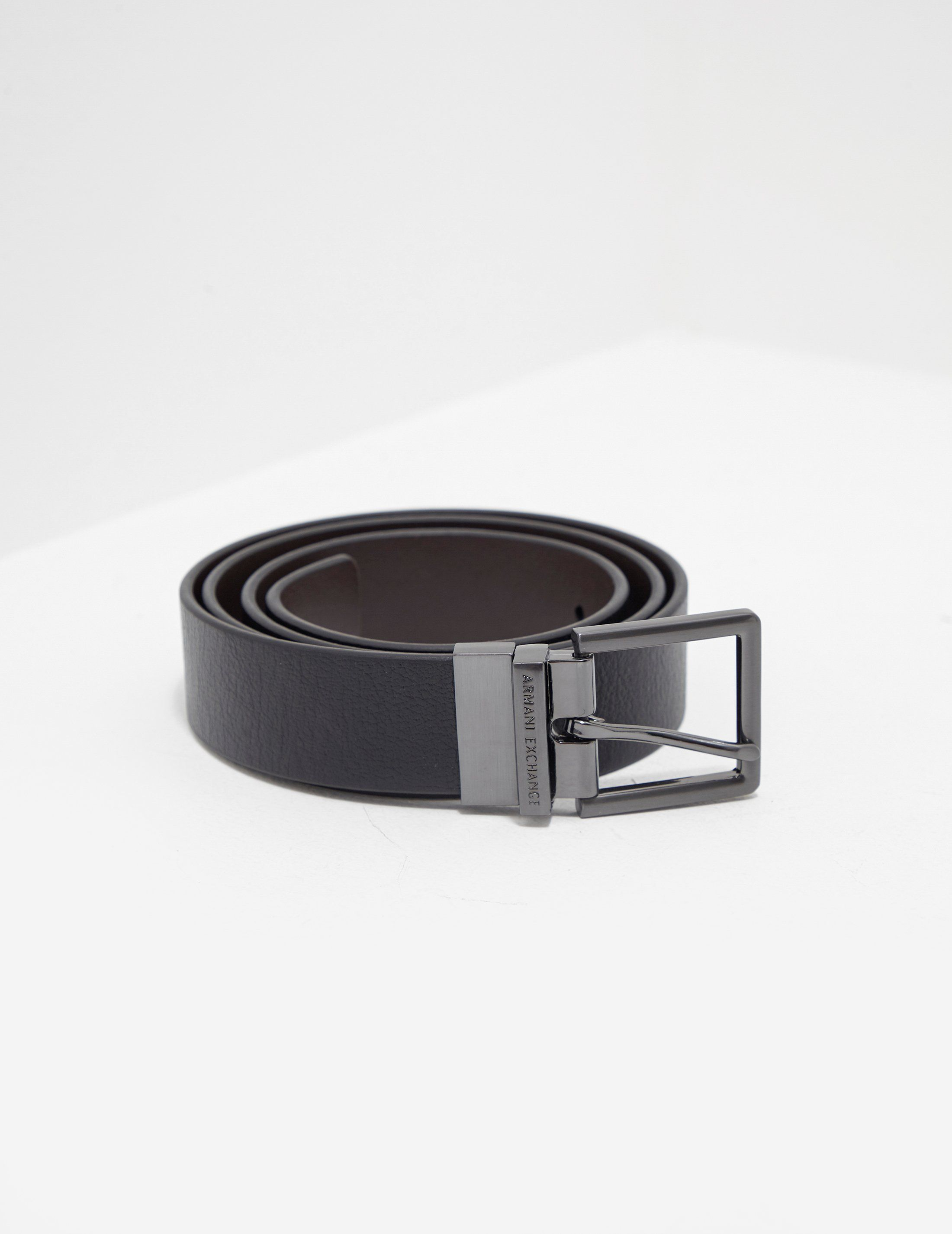 Armani Exchange Core Leather Belt
