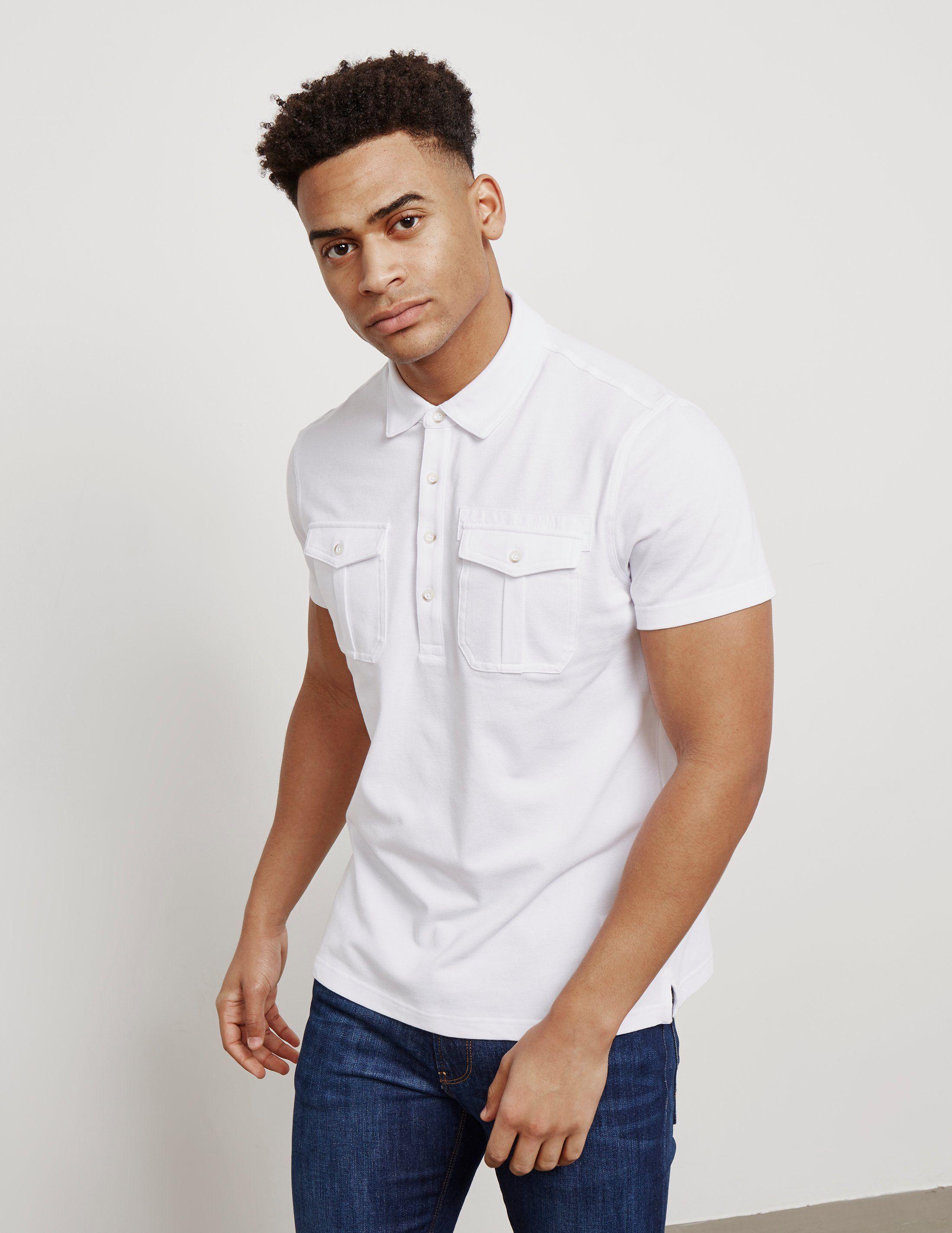 Michael Kors Pocket Short Sleeve Polo Shirt
