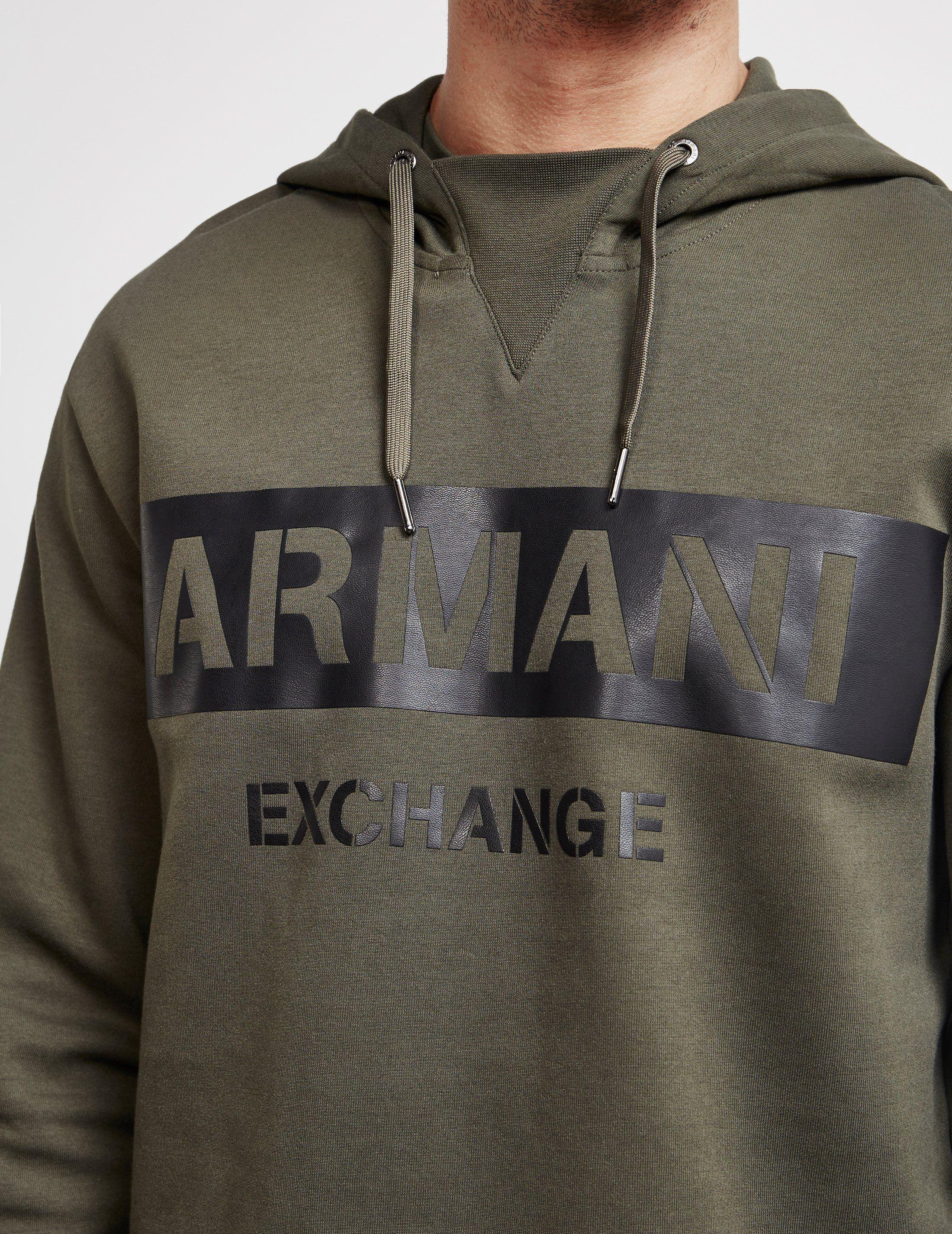 Armani Exchange Large Logo Stripe Hoodie