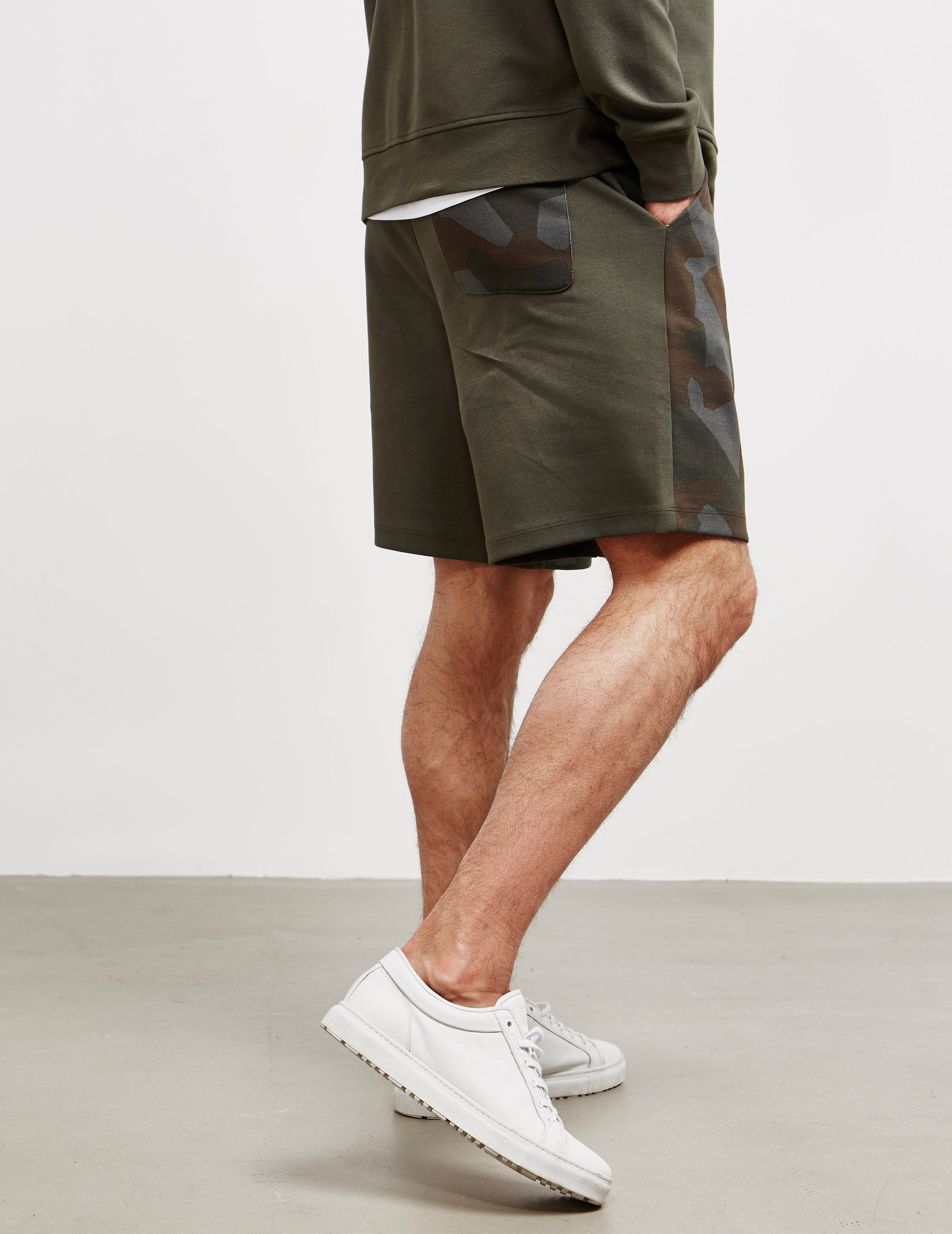 Armani Exchange Camouflage Fleece Shorts