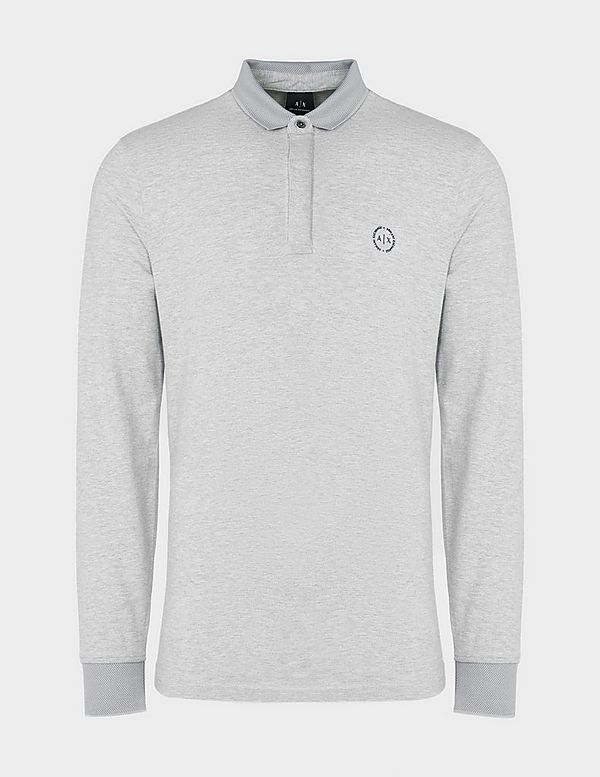 Armani Exchange Chest Logo Long Sleeve Polo Shirt  861bef17d4