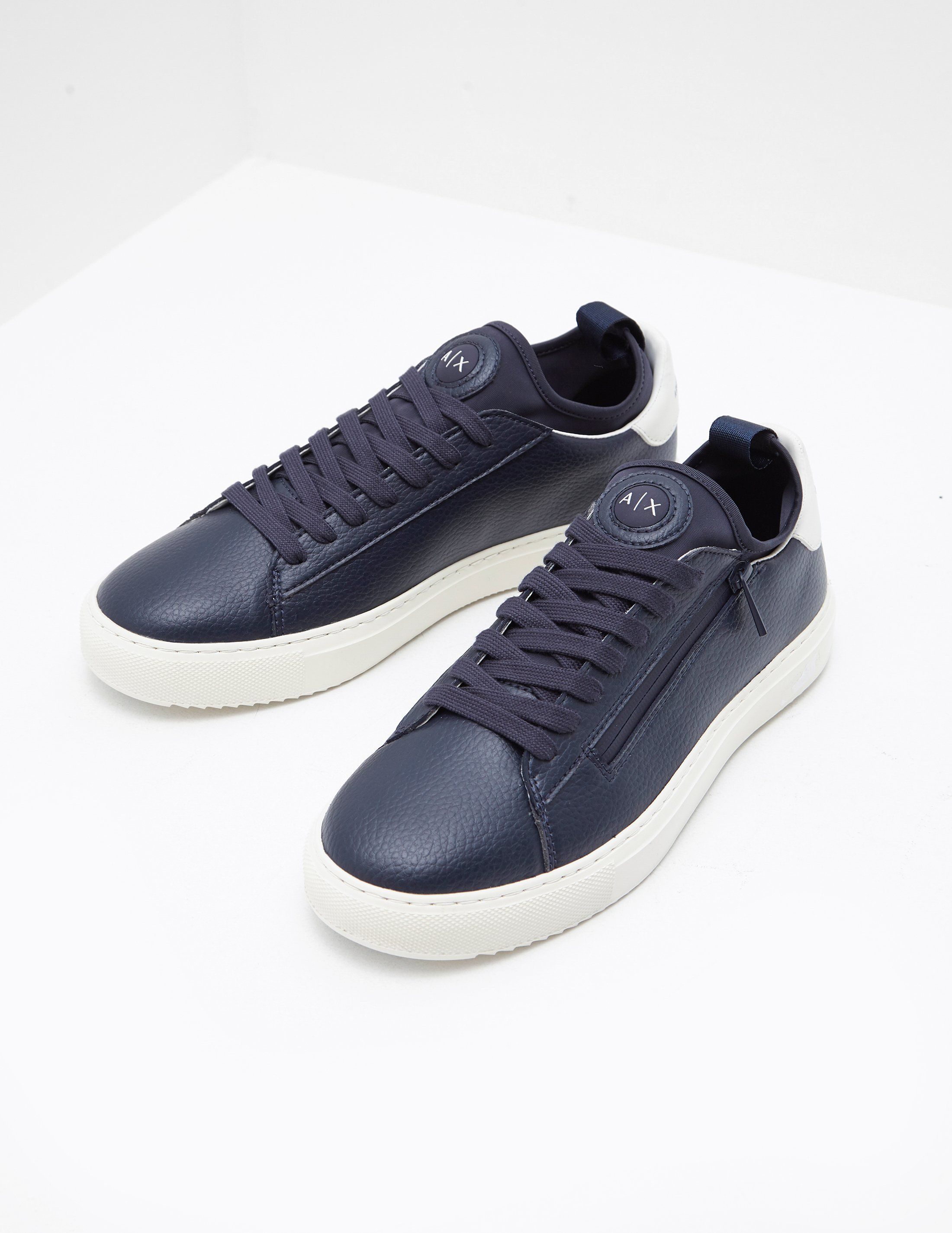 Armani Exchange Low Deerskin Trainers
