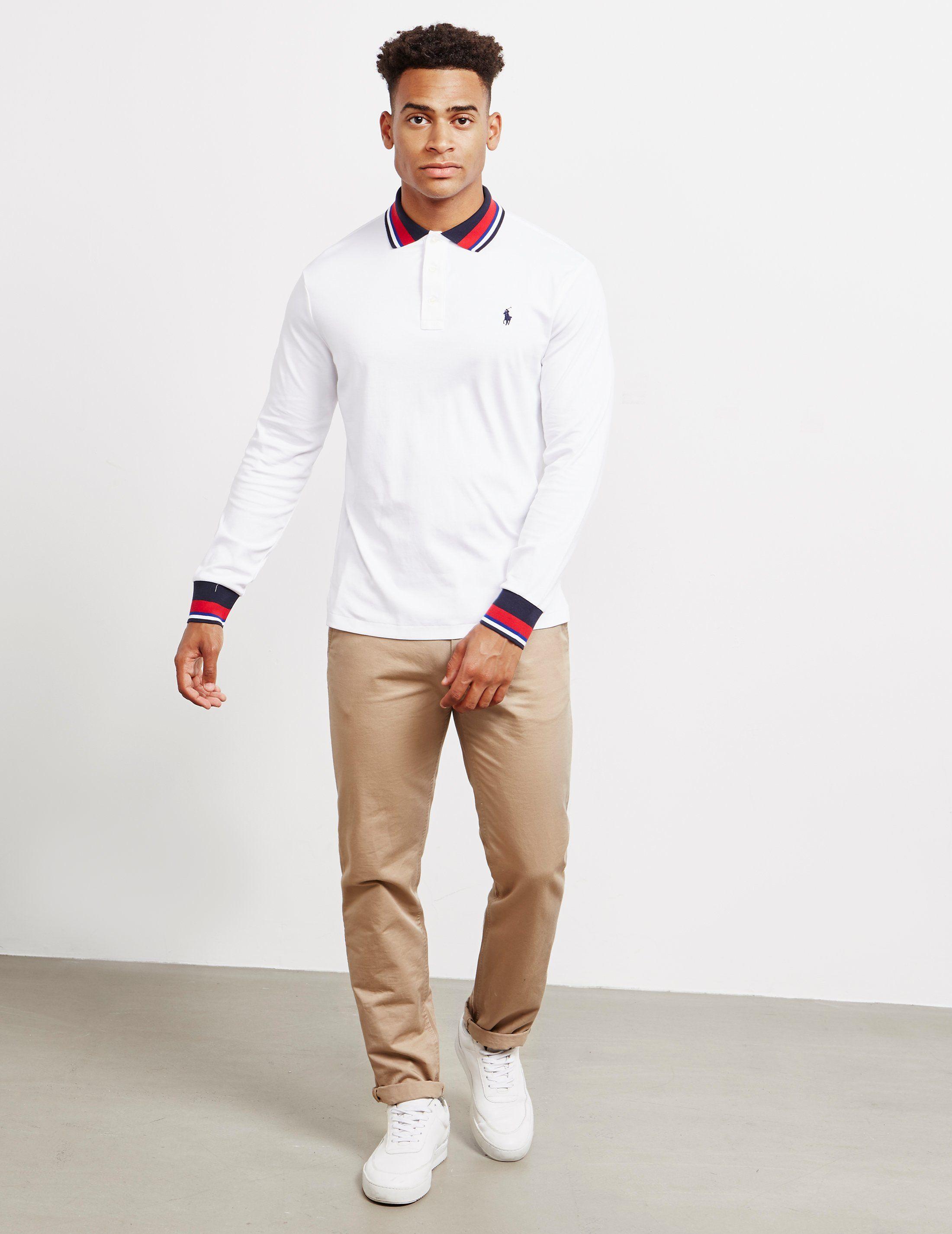 Polo Ralph Lauren Cuffed Long Sleeve Polo Shirt