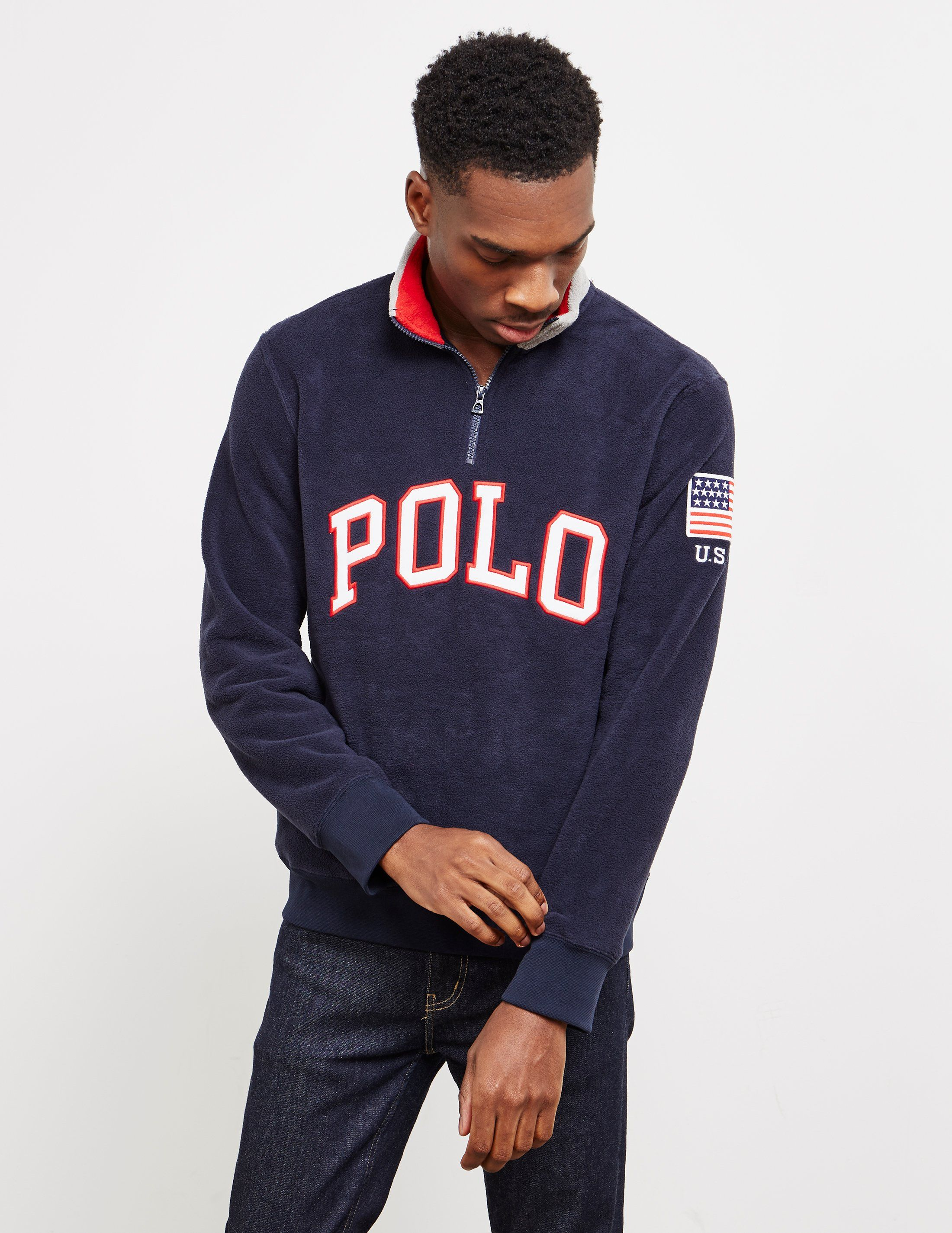 Polo Ralph Lauren Half Zip Polo Fleece Sweatshirt