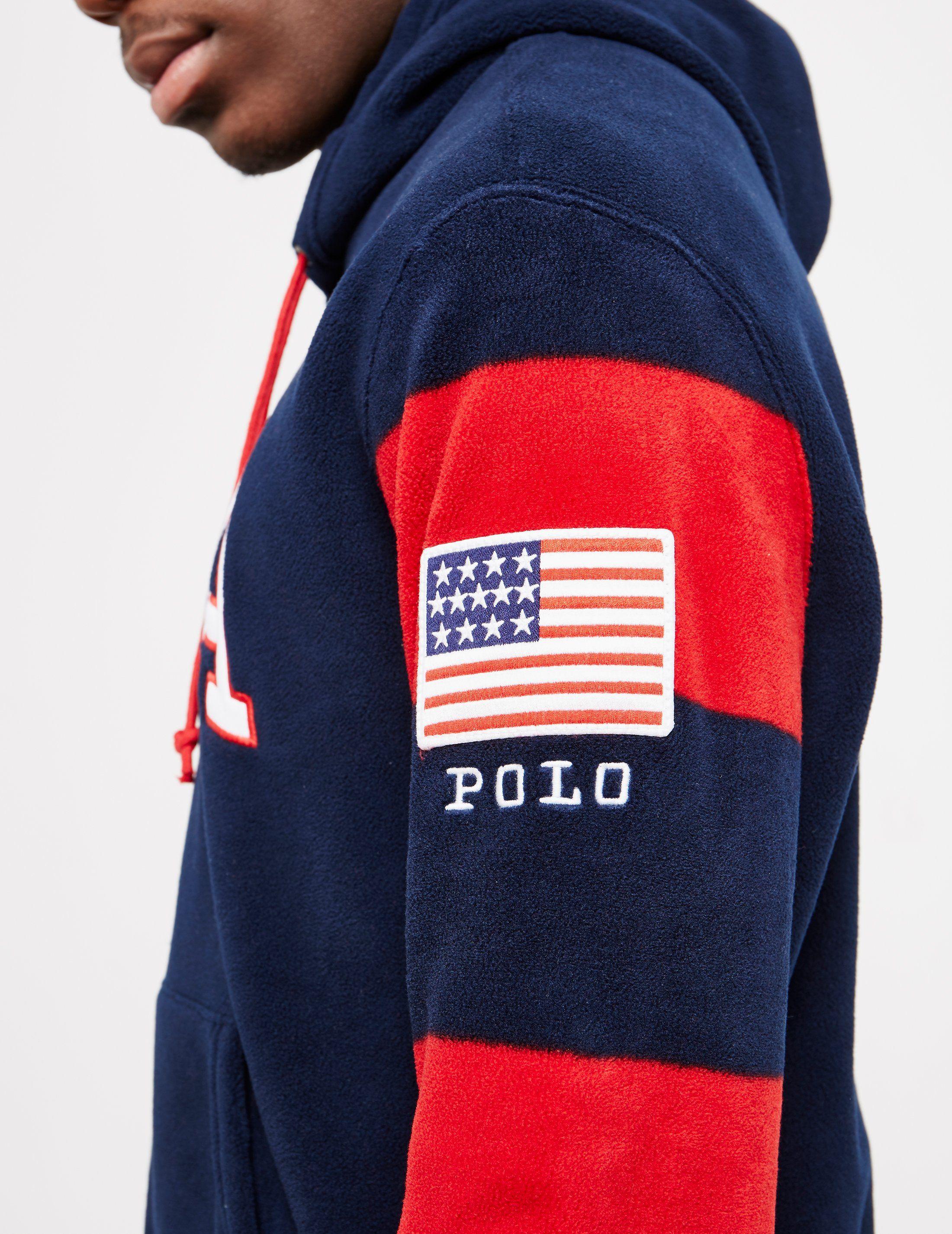 Polo Ralph Lauren USA Overhead Polar Hoodie - Online Exclusive