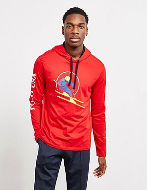 ffc4562fa262 ... top quality polo ralph lauren ski hooded long sleeve t shirt 93c1c c4547